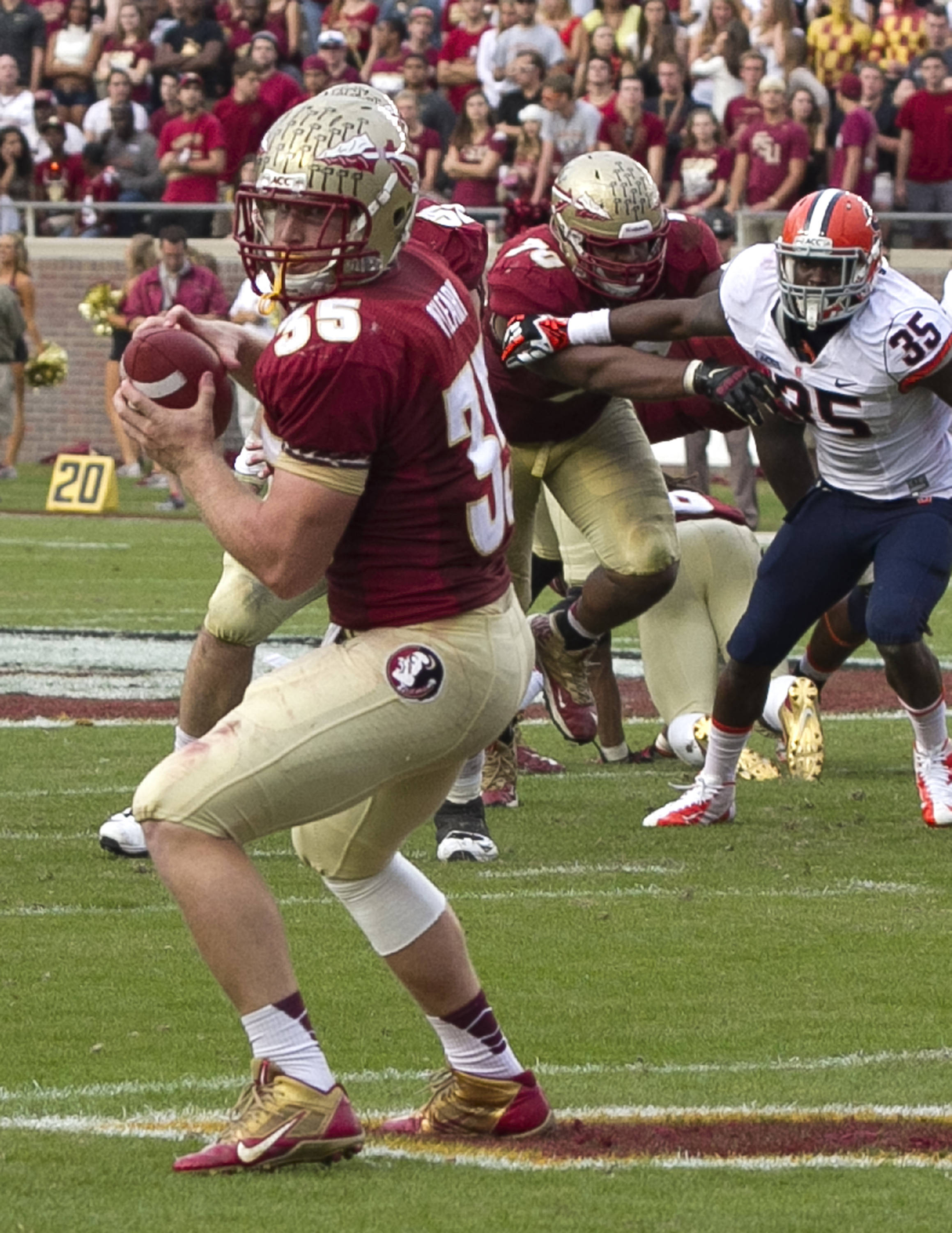 Nick O'Leary (35), FSU vs Syracuse, 11-16-13, (Photo by Steve Musco)