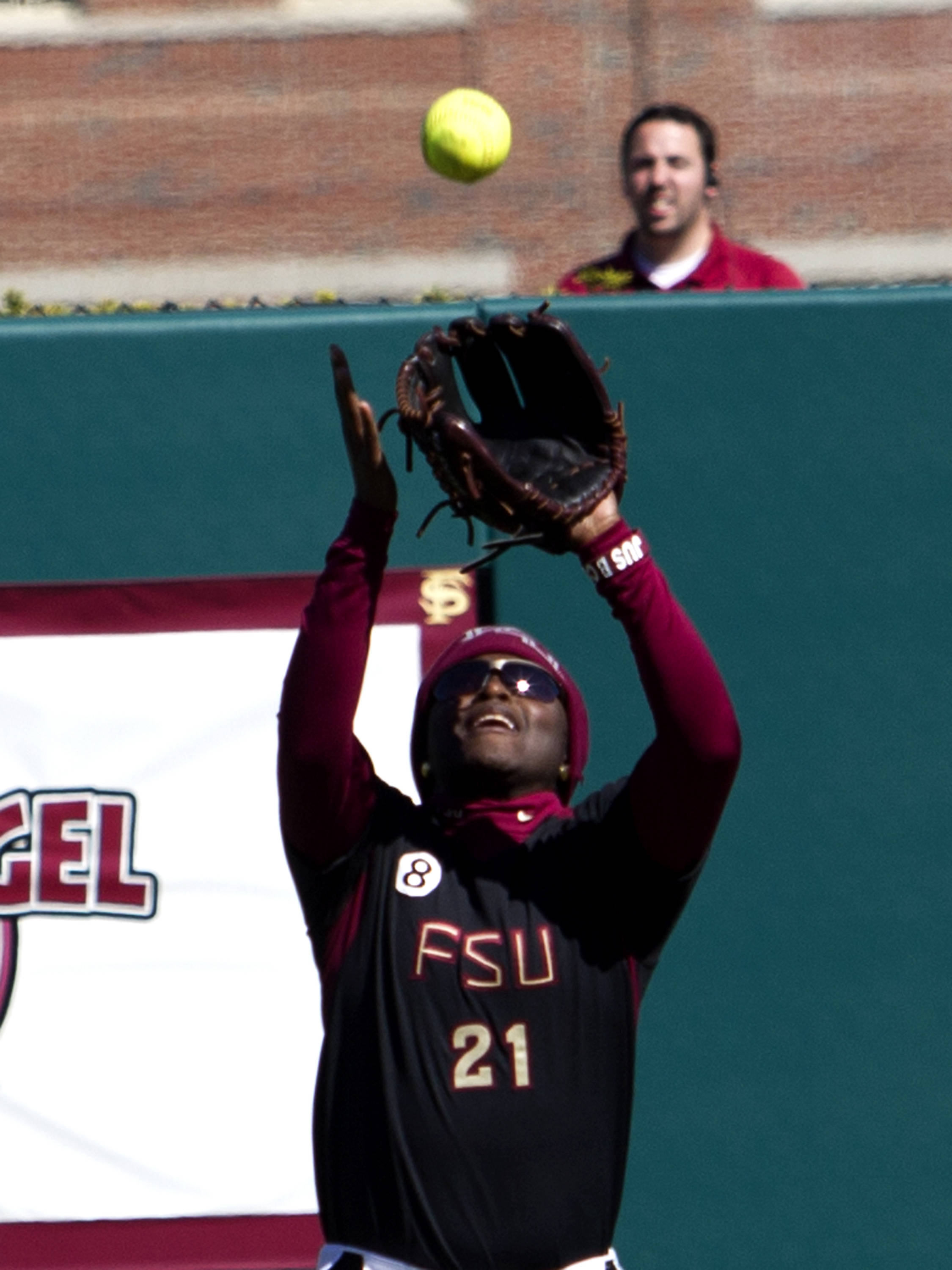 Morgan Bullock (21), FSU vs Tulsa, 02/17/13. (Photo by Steve Musco)