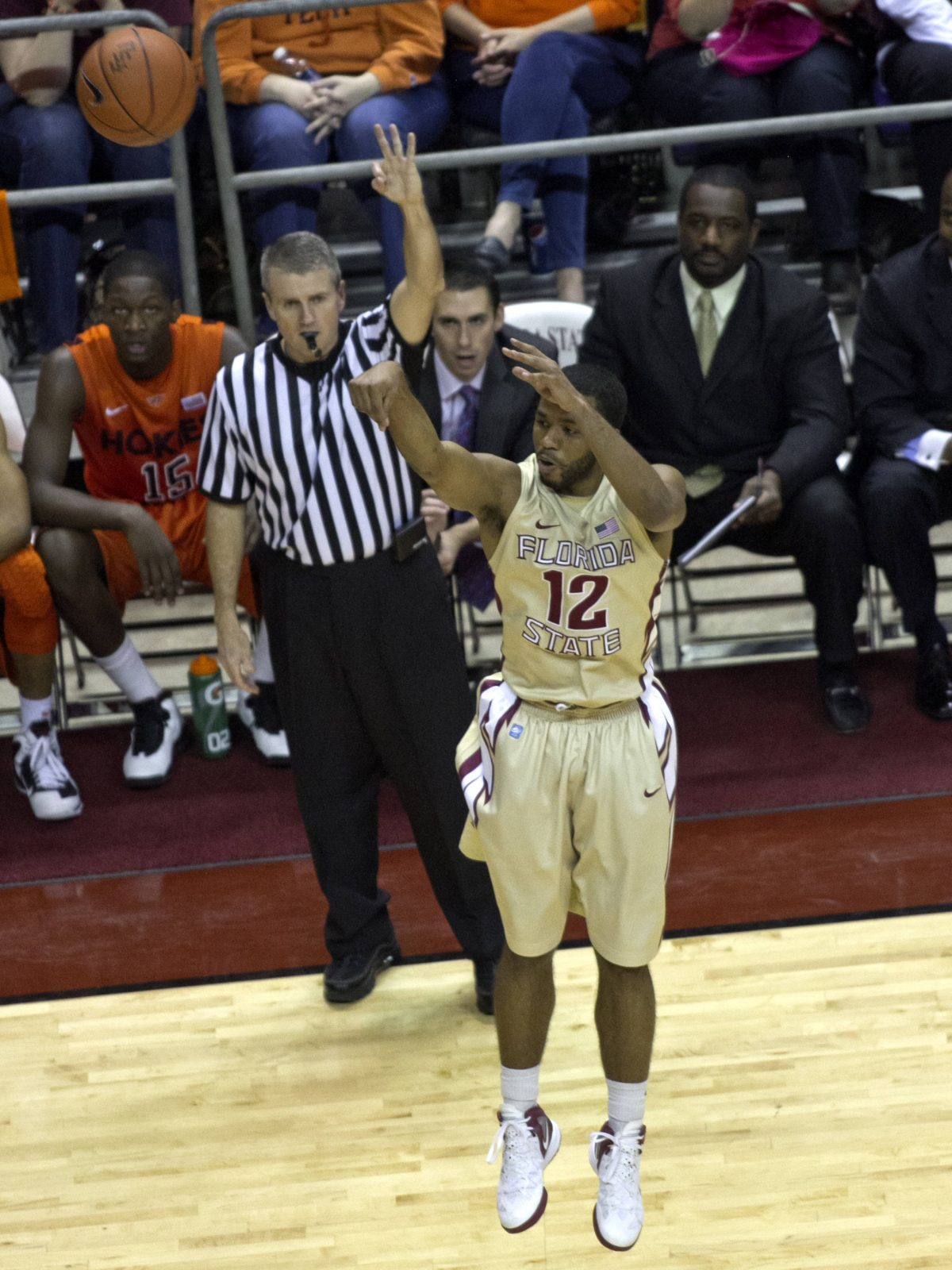 Jeff Peterson (12), FSU vs VT,  02/16/2012