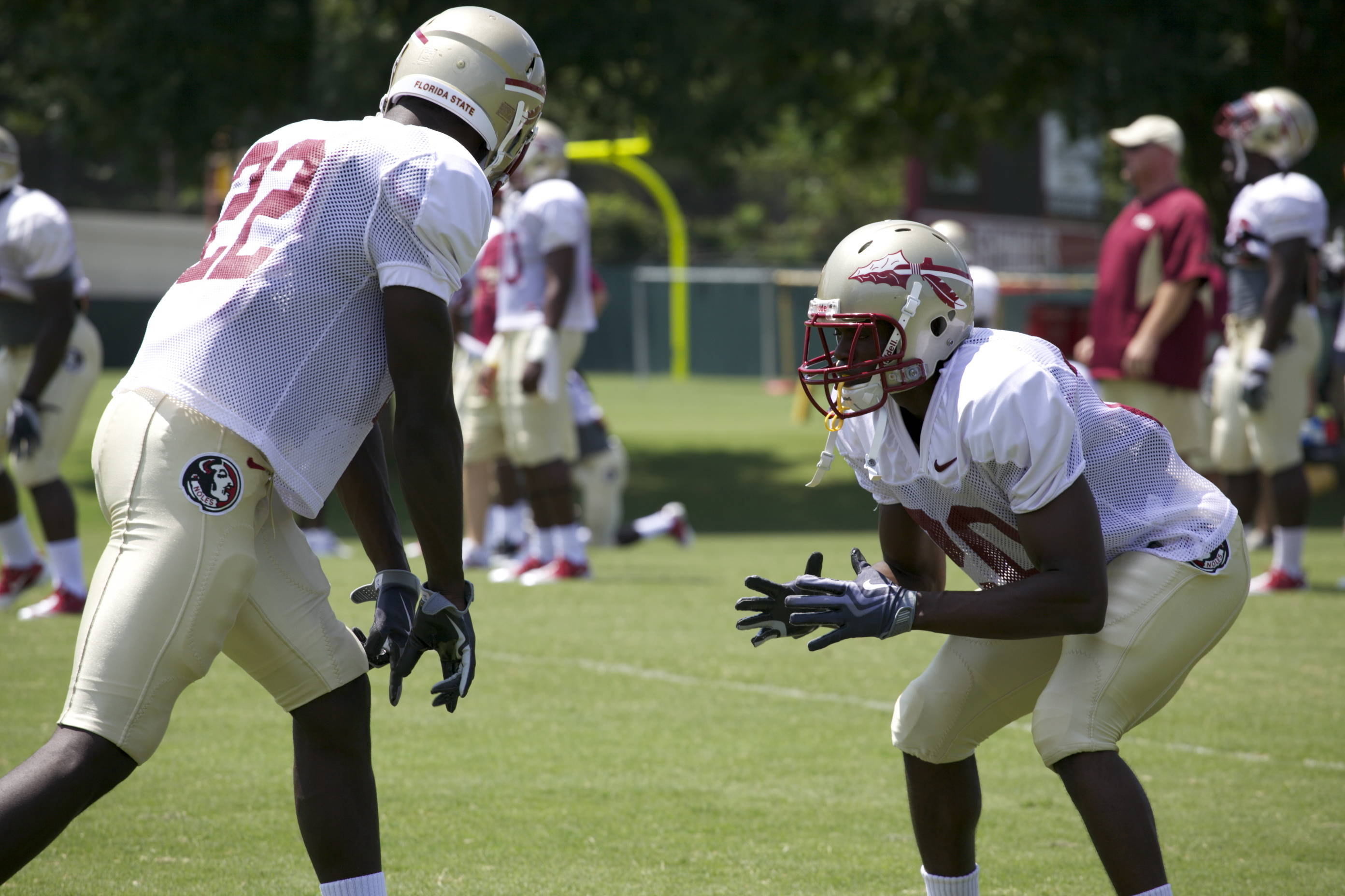 Telvin Smith (22), Lamarcus Joyner (20)