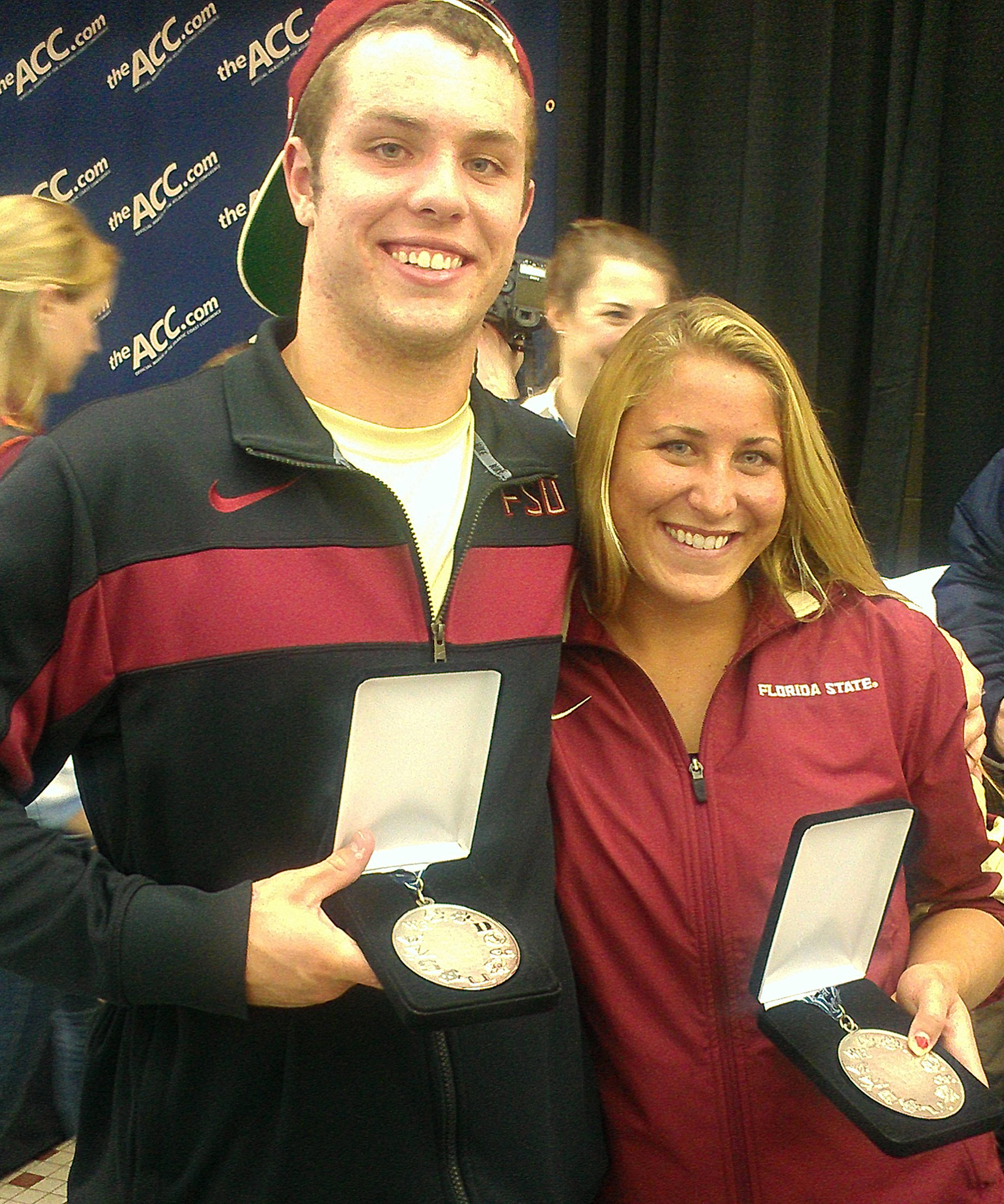 Ford and Ariel pose together with their medals.