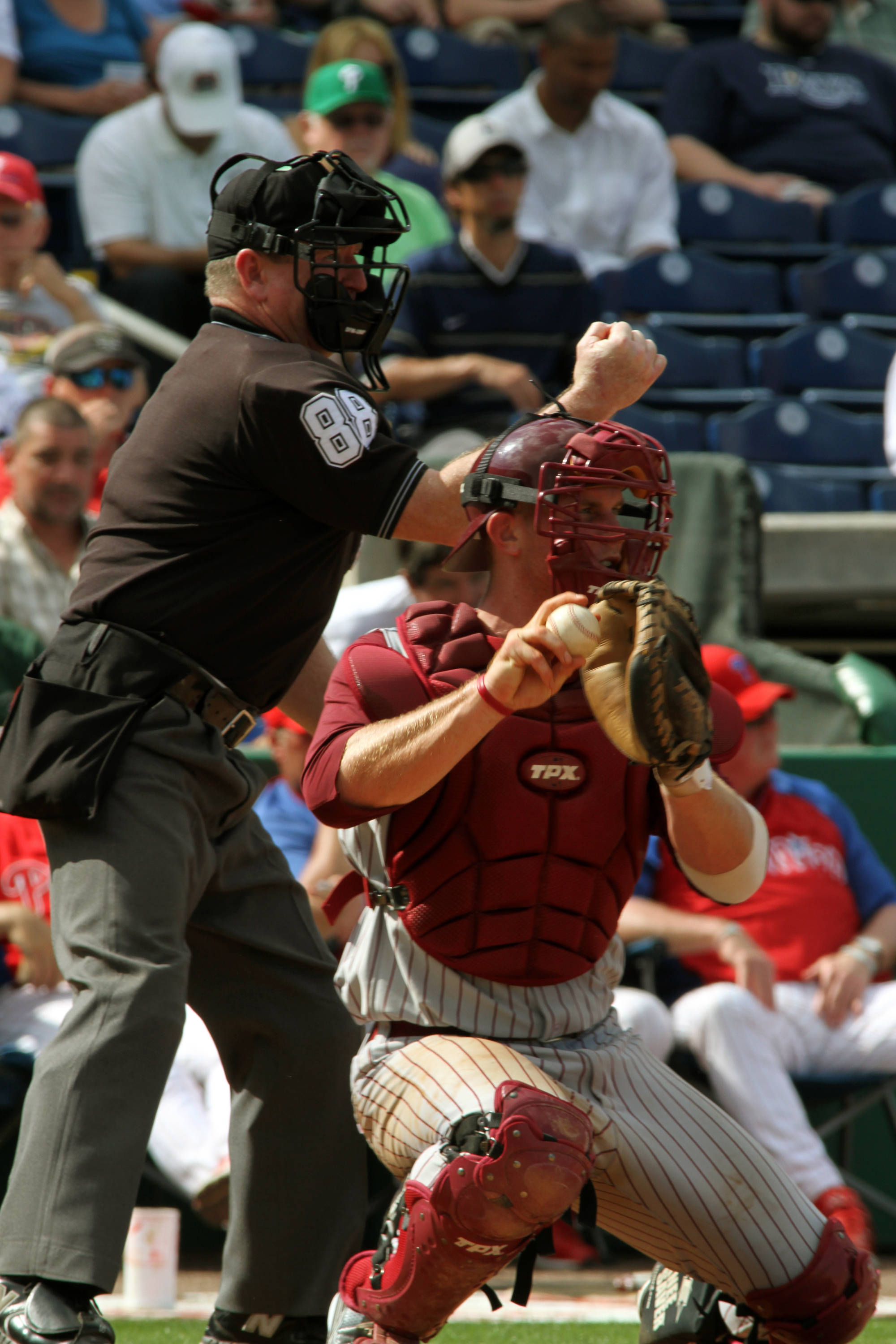 Stephen McGee behind the plate