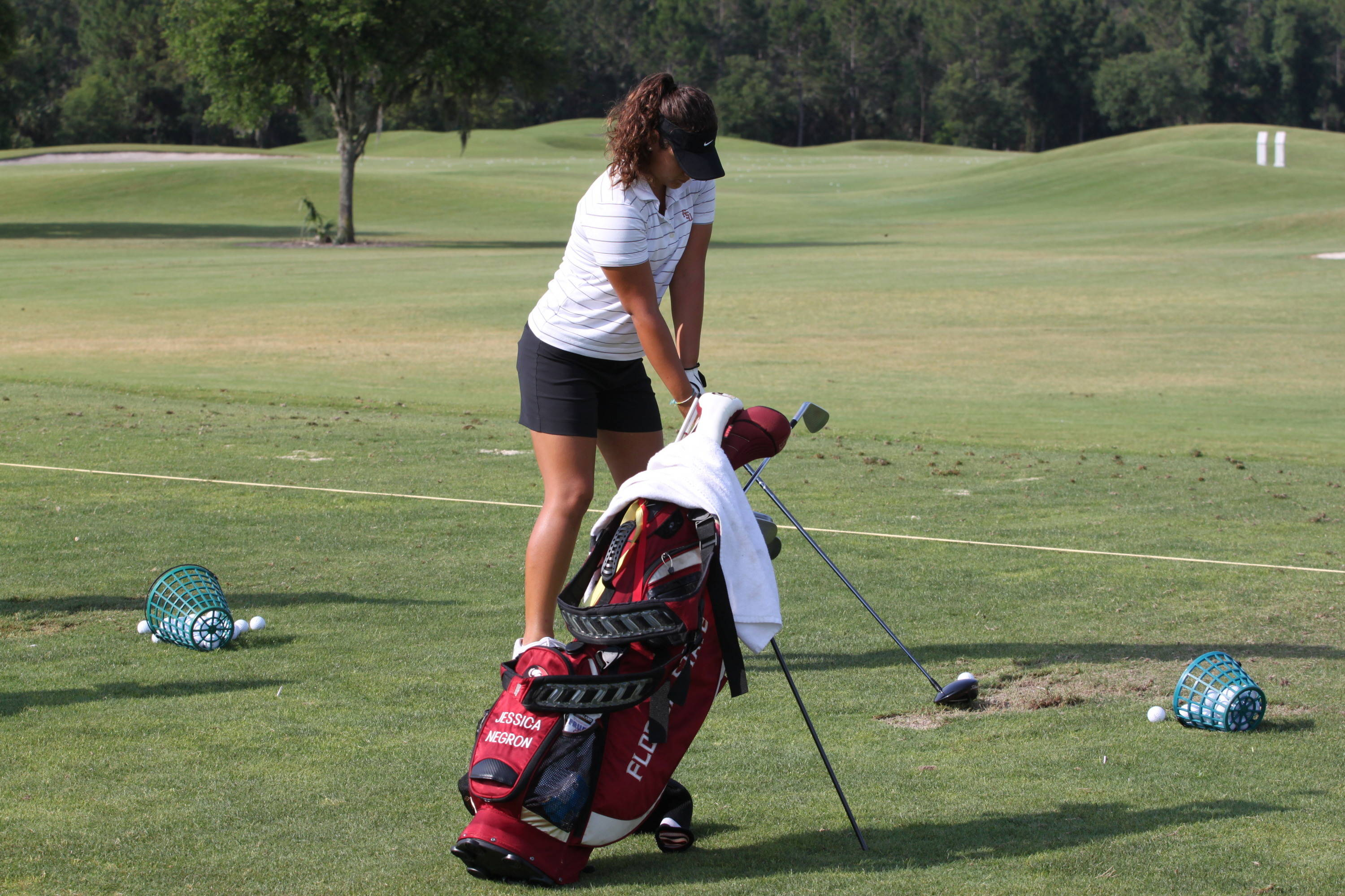 2011 NCAA Women's Golf - Sophomore Jessica Negron is playing in her second career NCAA regional championship.