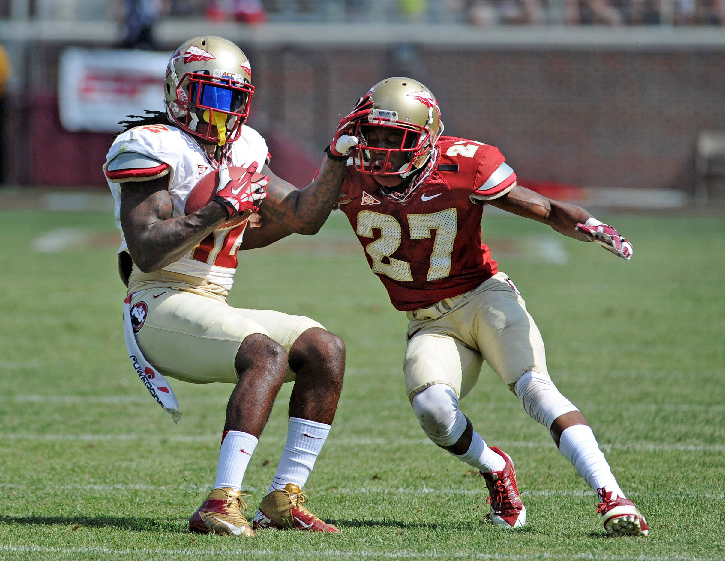 Garnet vs. Gold Spring Game#$%^April 12, 2014#$%^(Melina Vastola-USA TODAY Sports)