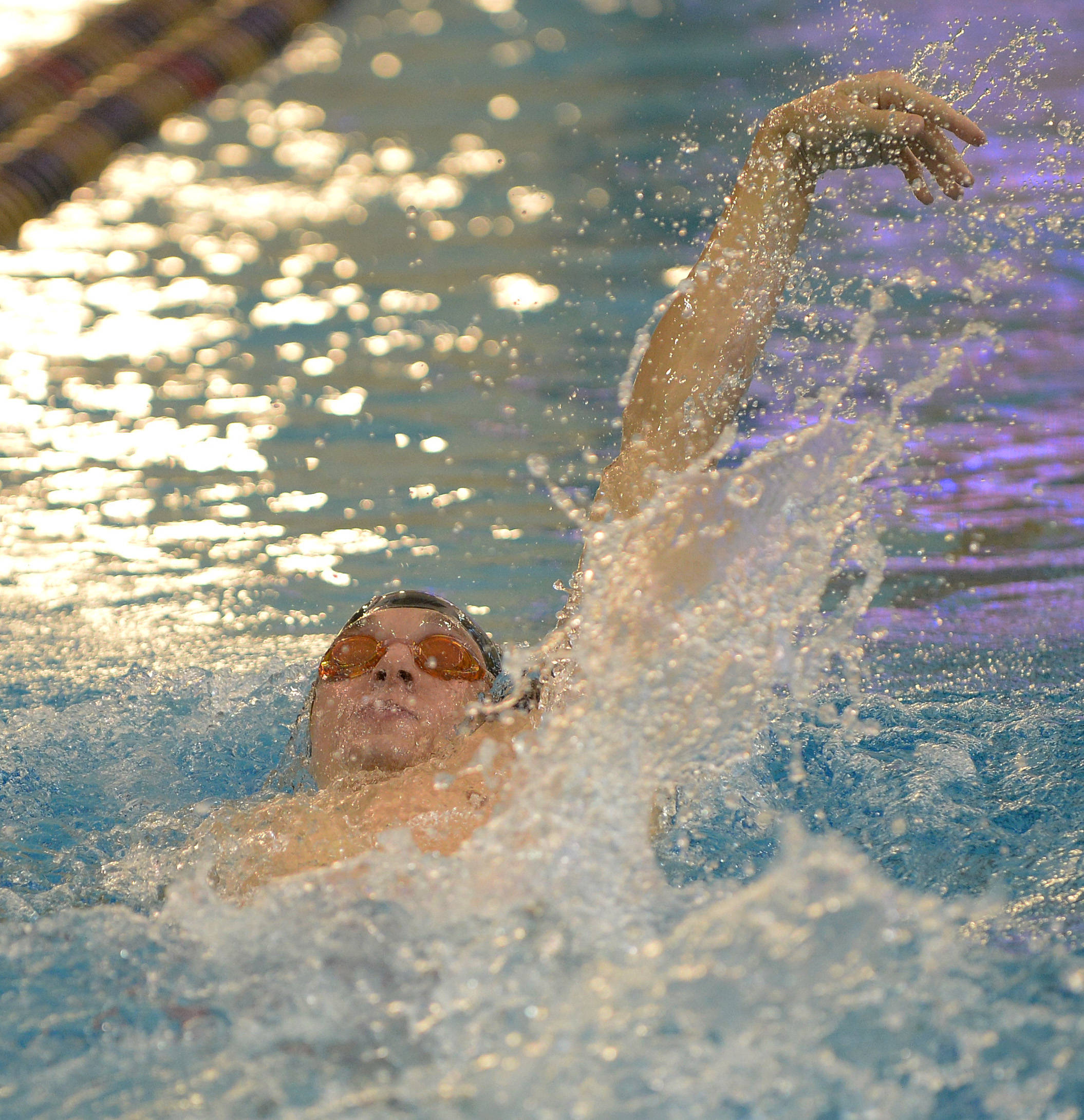 Kyle Doxtater does the 400 IM - Mitch White