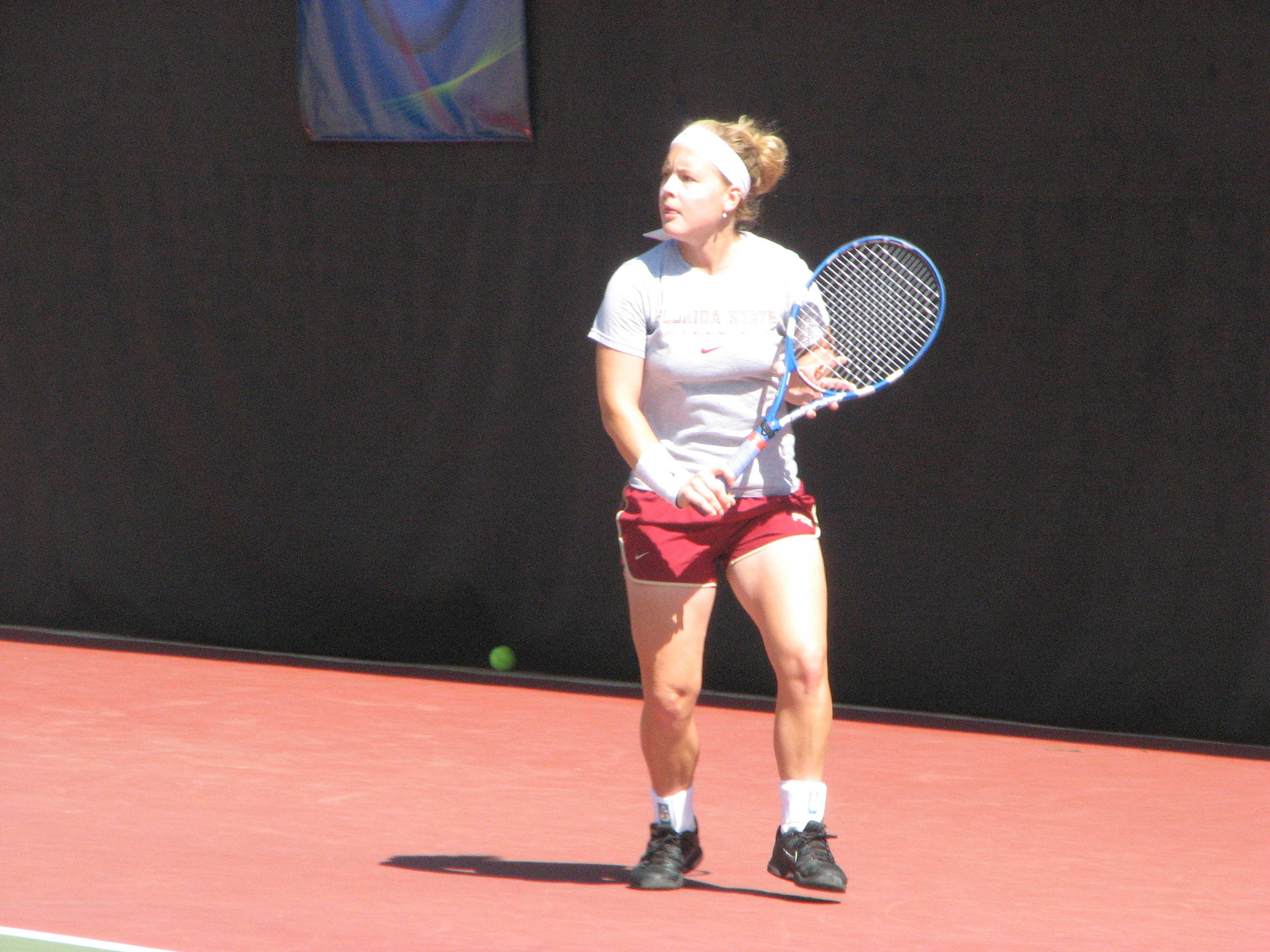 The day before the Round of 16. The Seminoles practiced at the Dan Magill Tennis Complex.