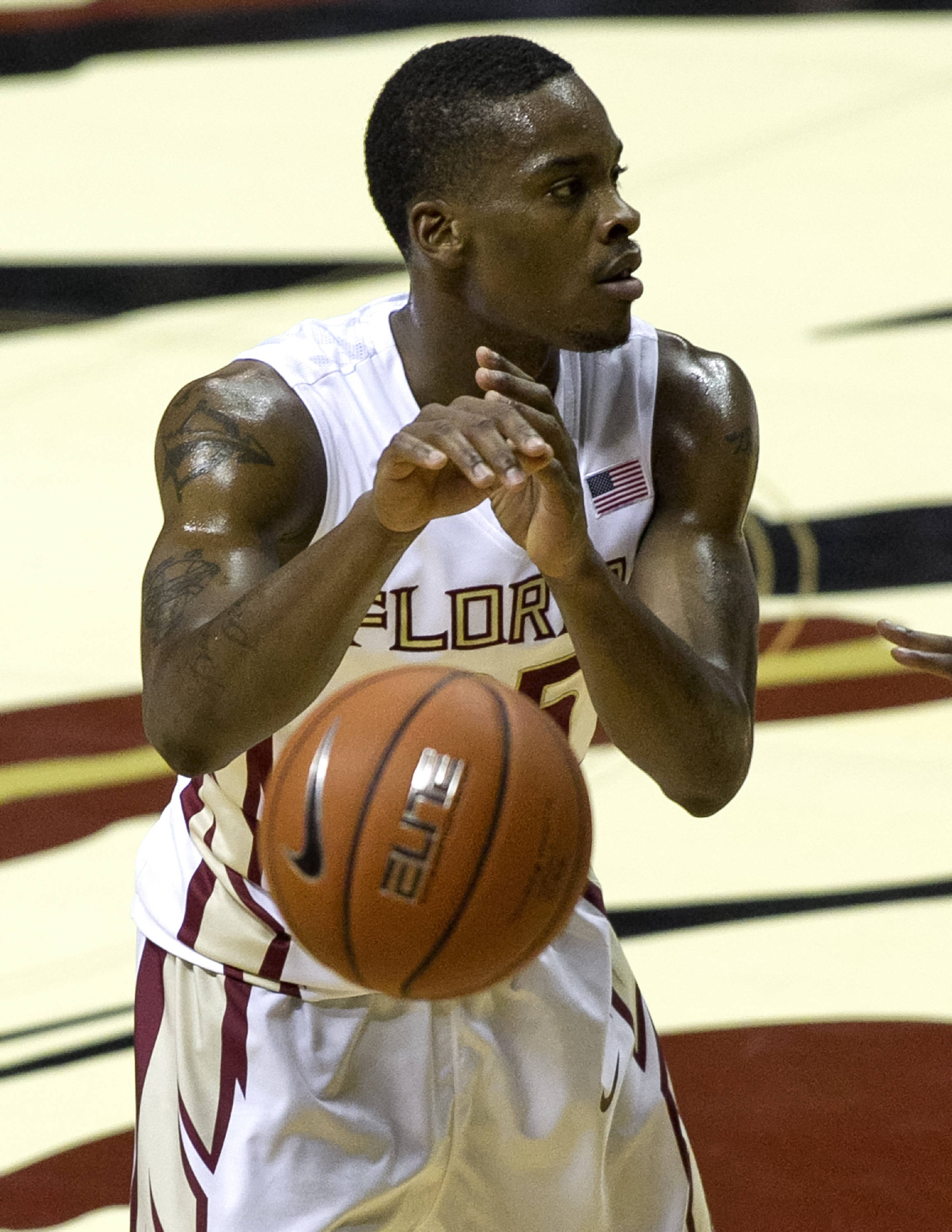 Aaron Thomas, FSU vs Jacksonville,  11-8-13, (Photo by Steve Musco)