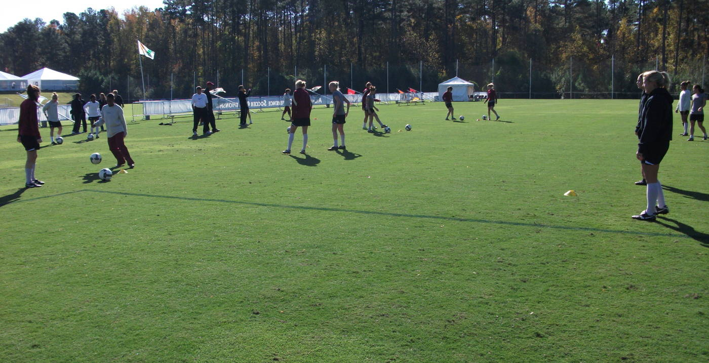 The Seminoles at practice