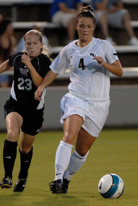 Annie Stalzer registered a career-high two assists against Troy Wednesday evening.