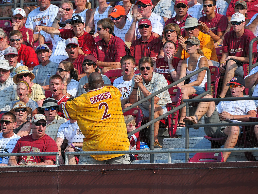 Nothing gets the FSU fan base going better than one of the Animals of Section B - rocking the retro Deion Sanders banana Sunday jersey - leading a N-O-L-E-S cheer ...