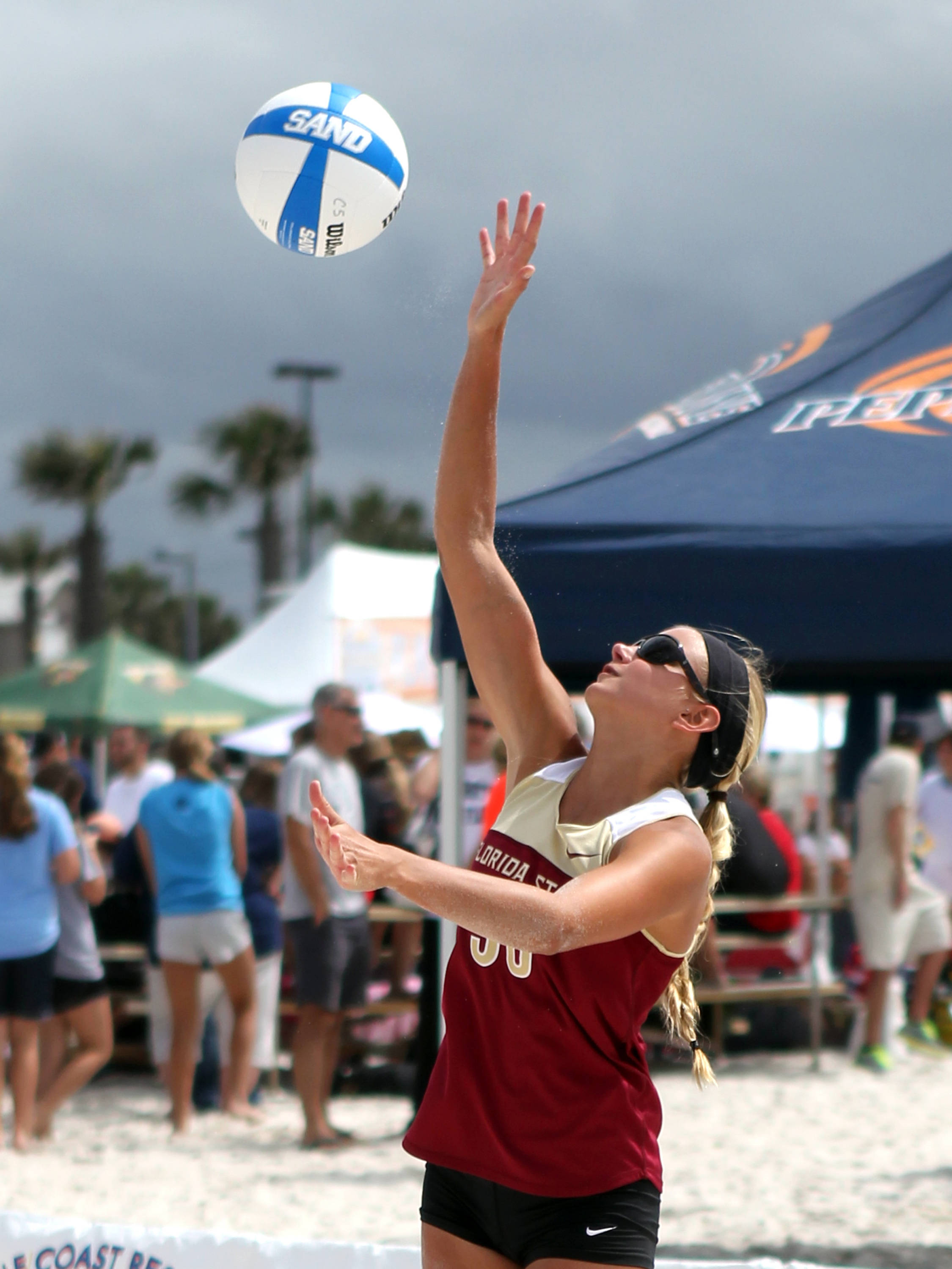 Kristina Pellitteri (30), AVCA Collegiate Sand Volleyball National Championships,  Gulf Shores, Alabama,05/03/13 . (Photo by Steve Musco)