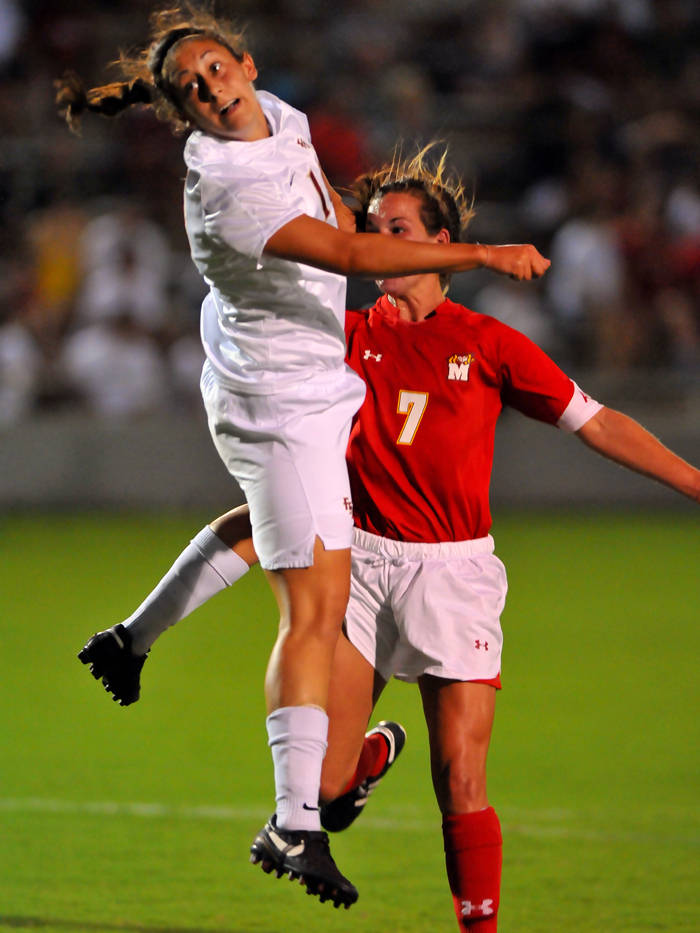 Marissa Kazbour heads in the game-winning goal in the 34th minute.