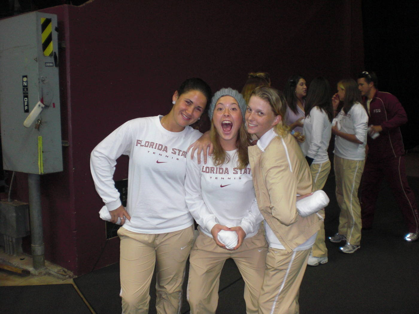 The women's tennis team was recognized at the FSU women's basketball game.