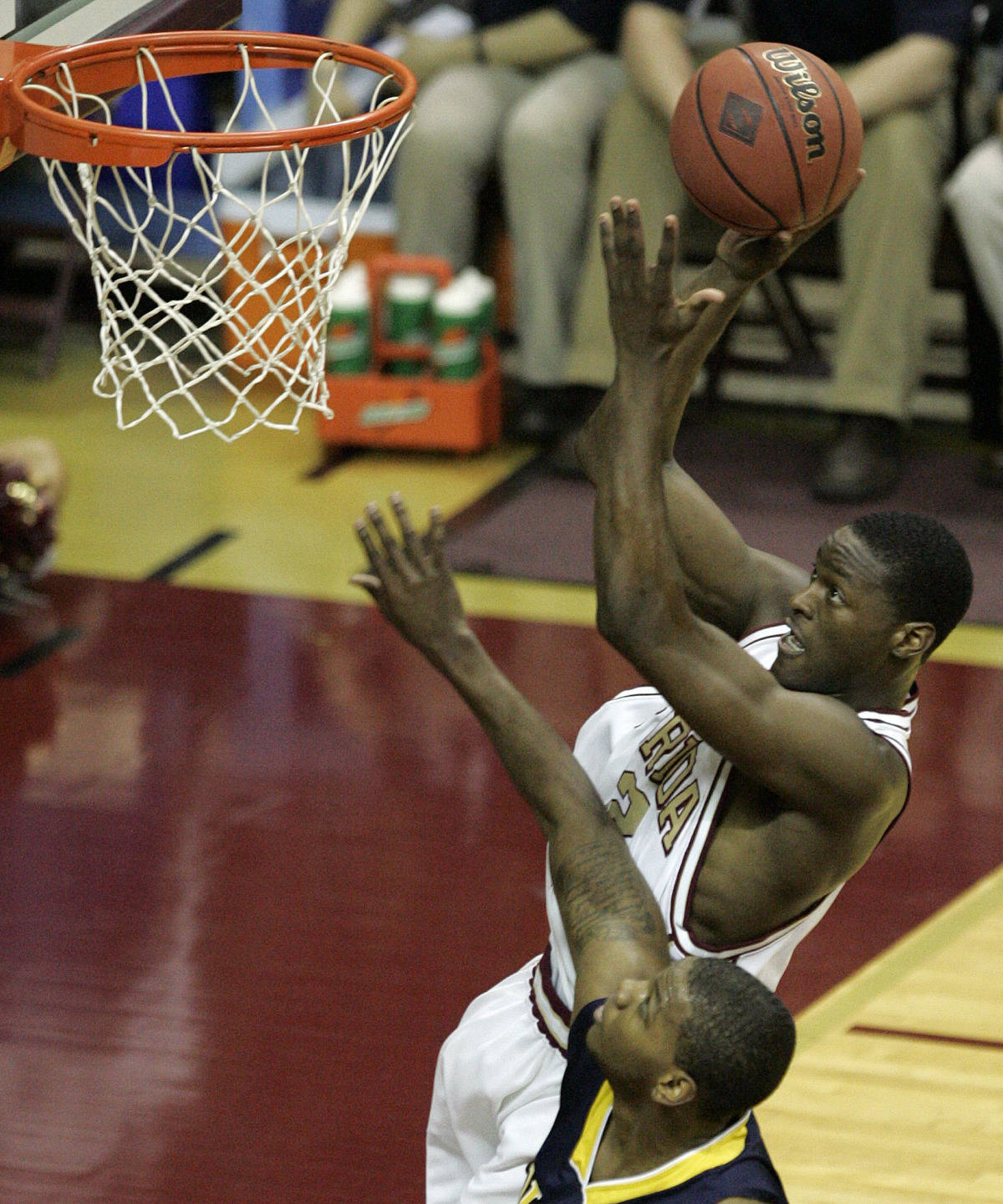 Florida State's Al Thornton scores over the defense of Toledo's Florentino Valencia. (AP Photo/Steve Cannon)