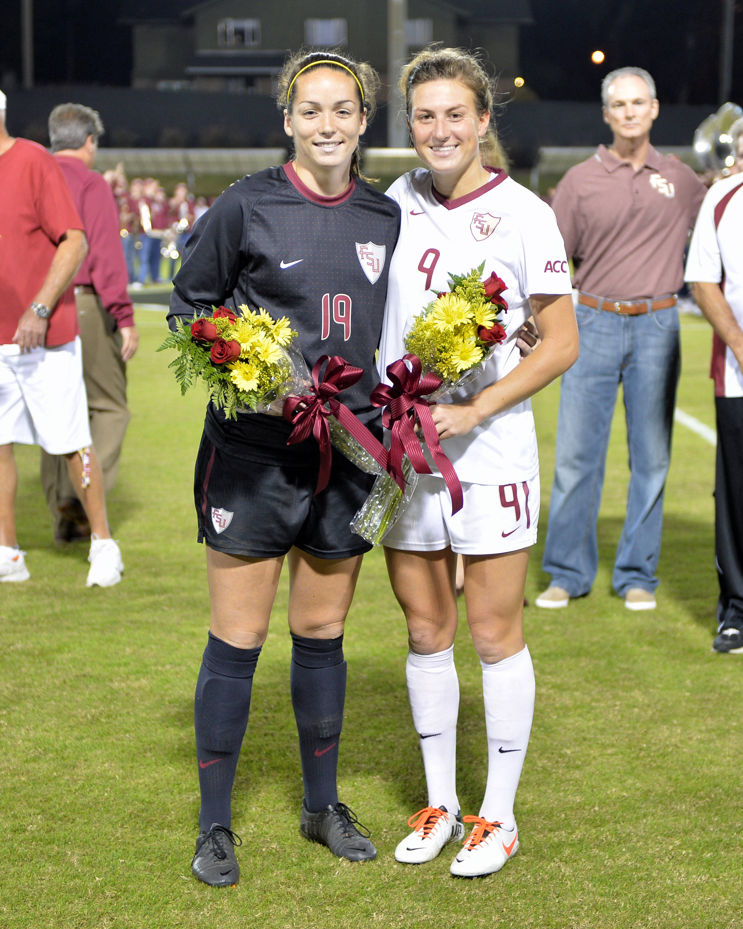 Florida State's senior class Kelsey Wys and Kassey Kallman