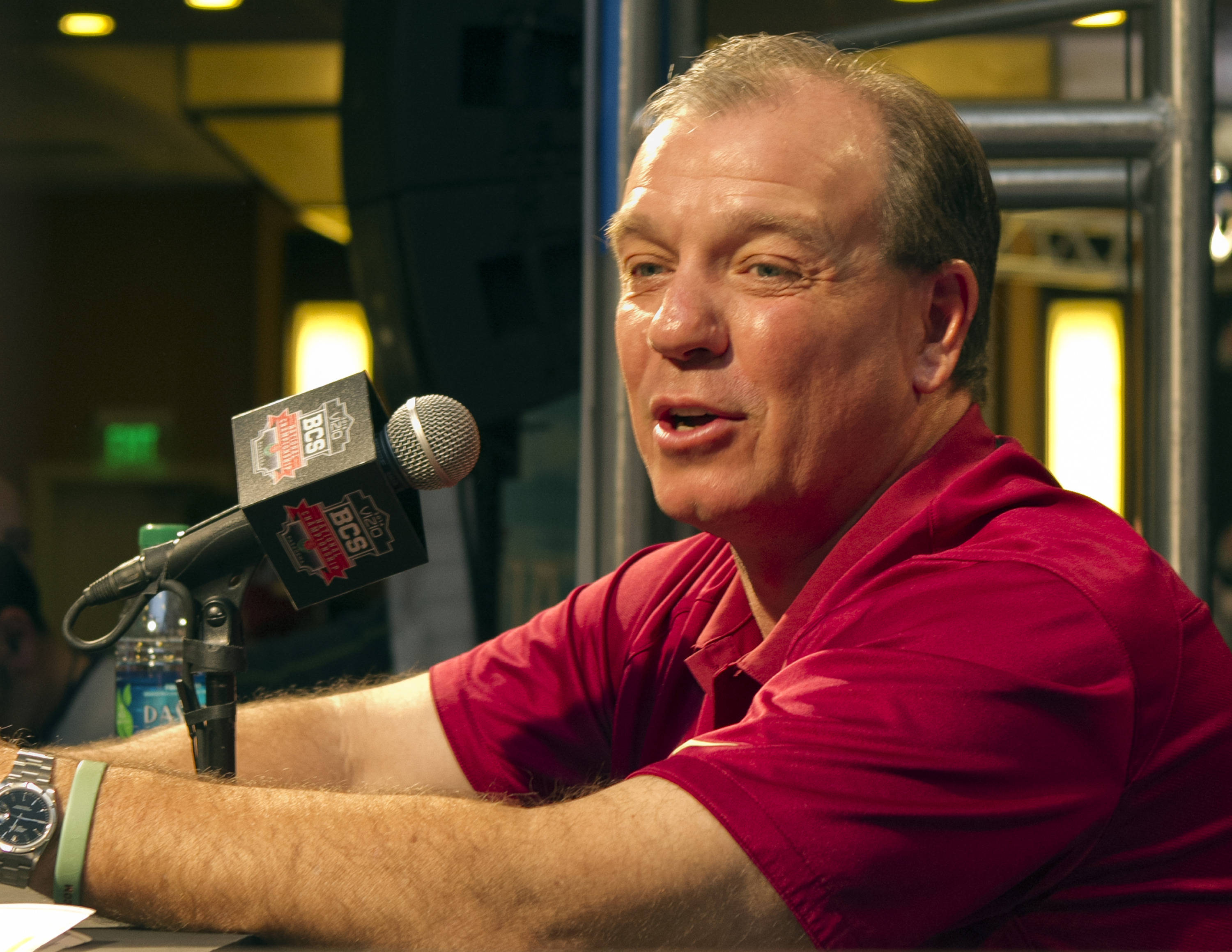 Head Coach Jimbo Fisher, FSU at BCS Championship Media Day,  1-04-14,  (Photo by Steve Musco)