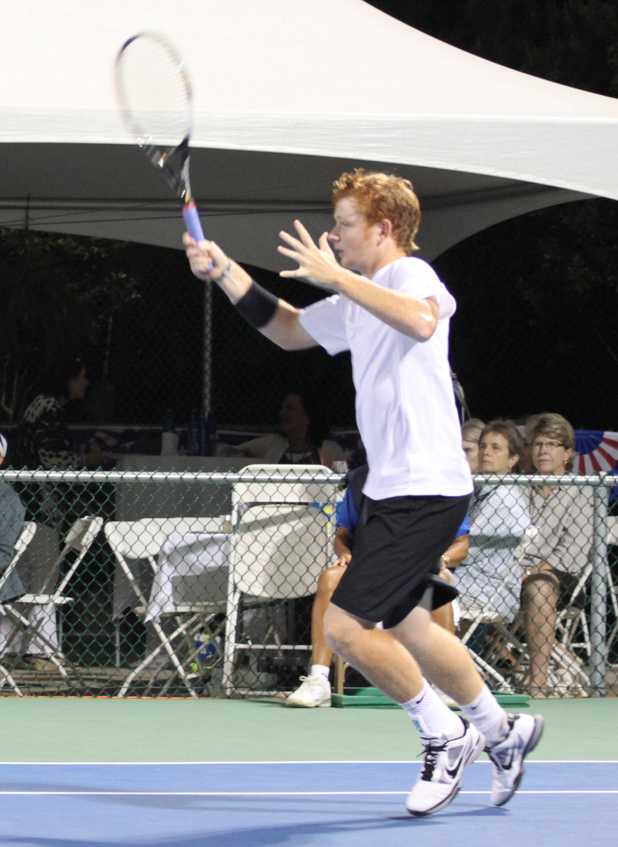Vahid Mirzadeh and Connor Smith at the USTA Tallahassee Tennis Challenger.