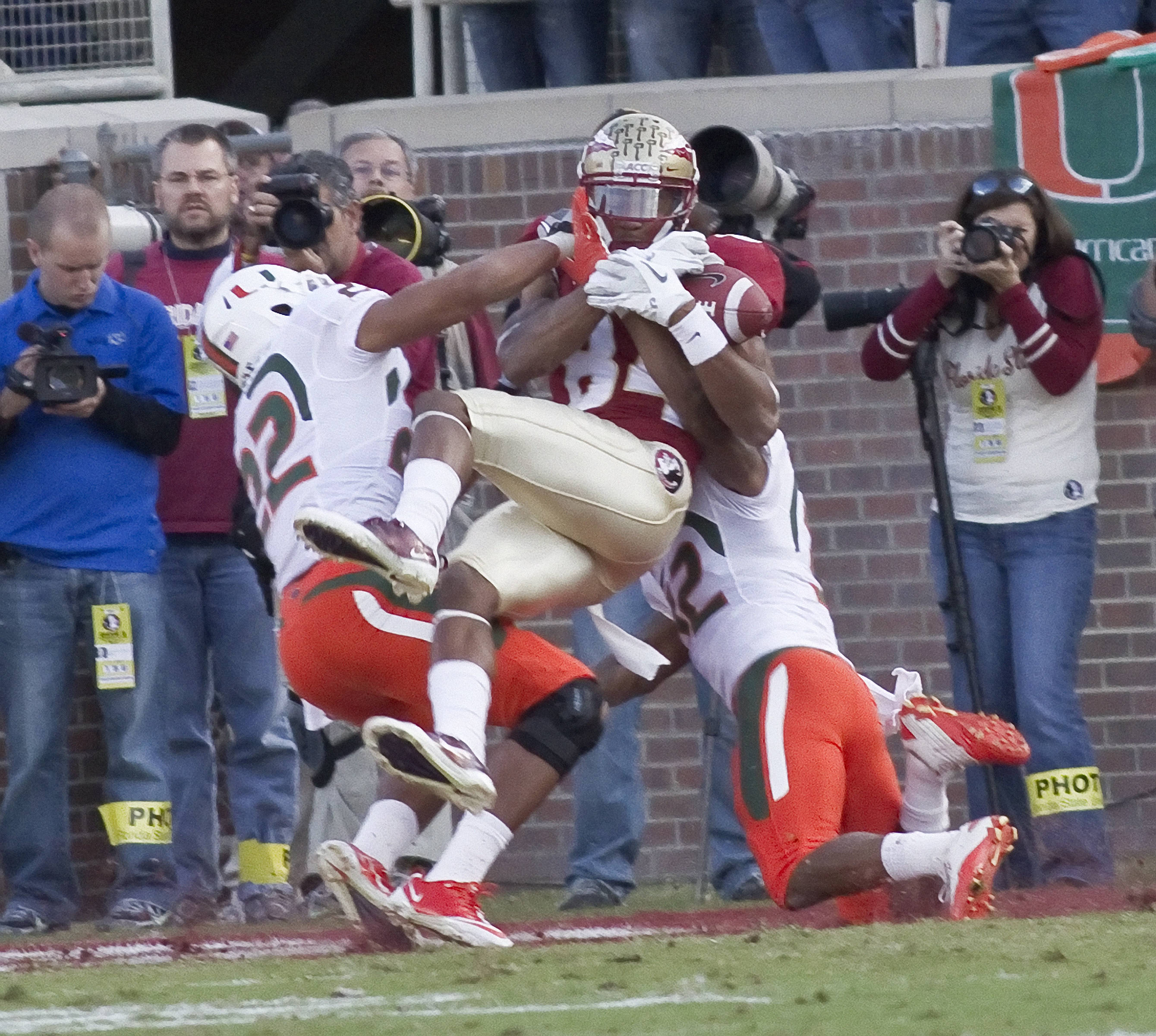 Rodney Smith (84), FSU vs Miami, 11/12/2011