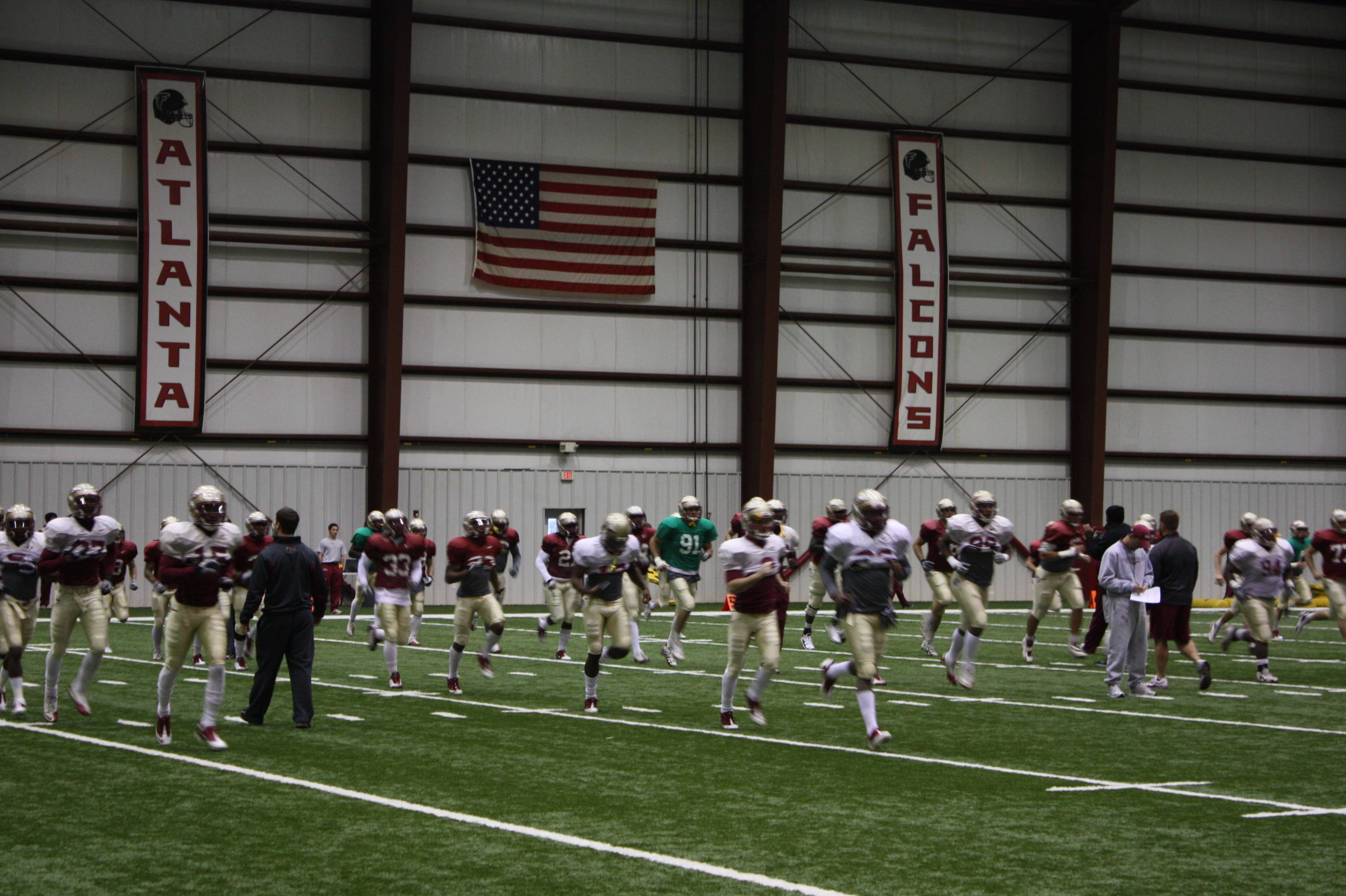 The indoor facility is both spacious and more comfortable as temperatures dipped below 20 degrees.