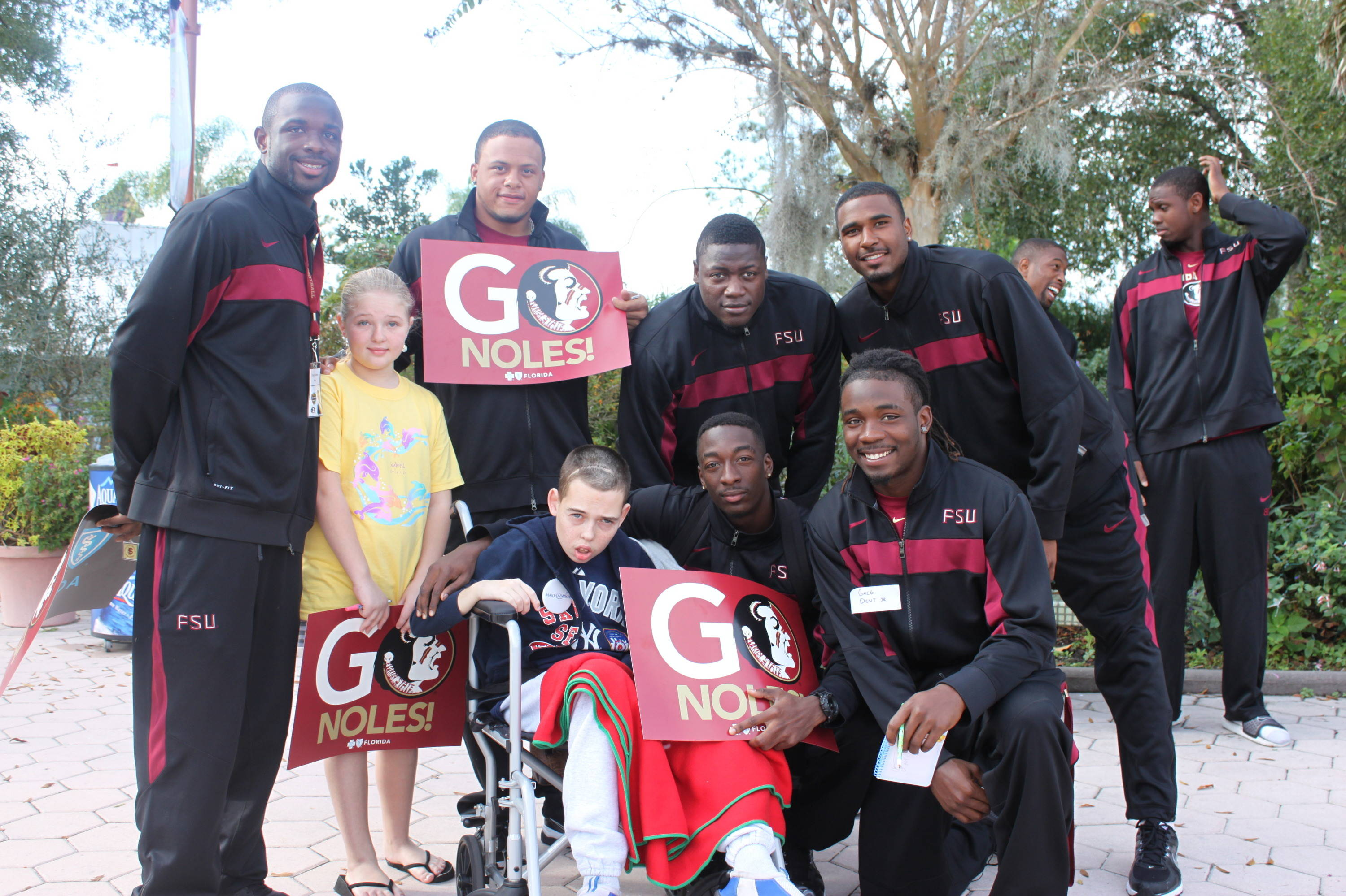 The Seminoles spent Tuesday morning sharing with less fortunate children at the Day For Kids event, held at the Give Kids The World park in Kissimmee.
