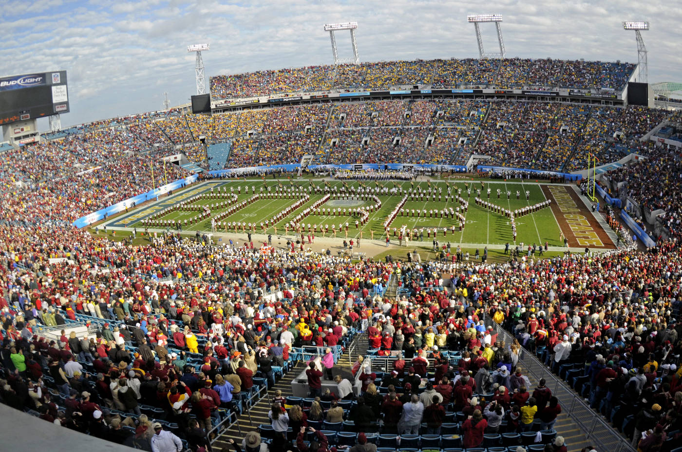 The Marching Chiefs spell out