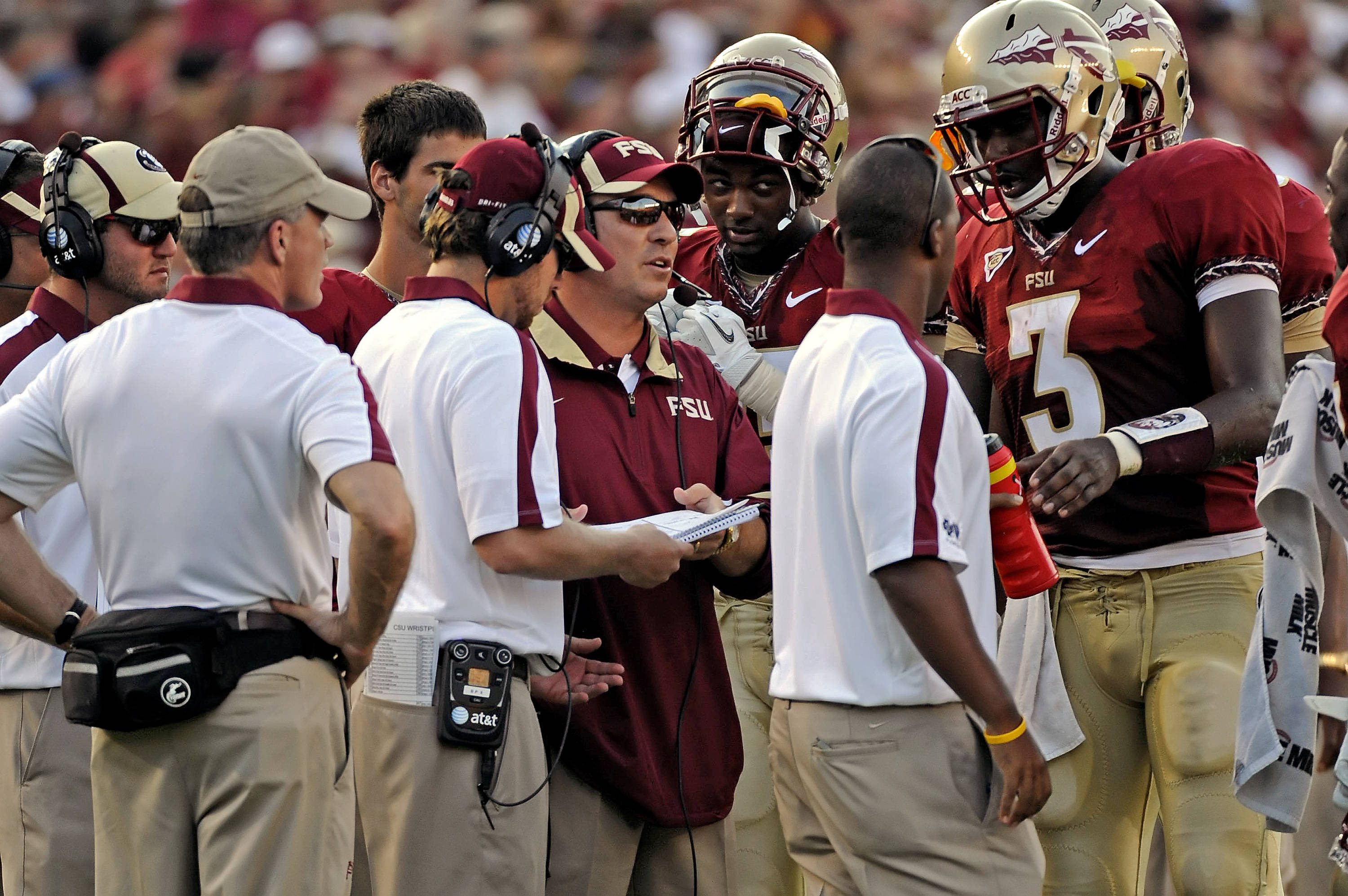 Jimbo Fisher and EJ Manuel