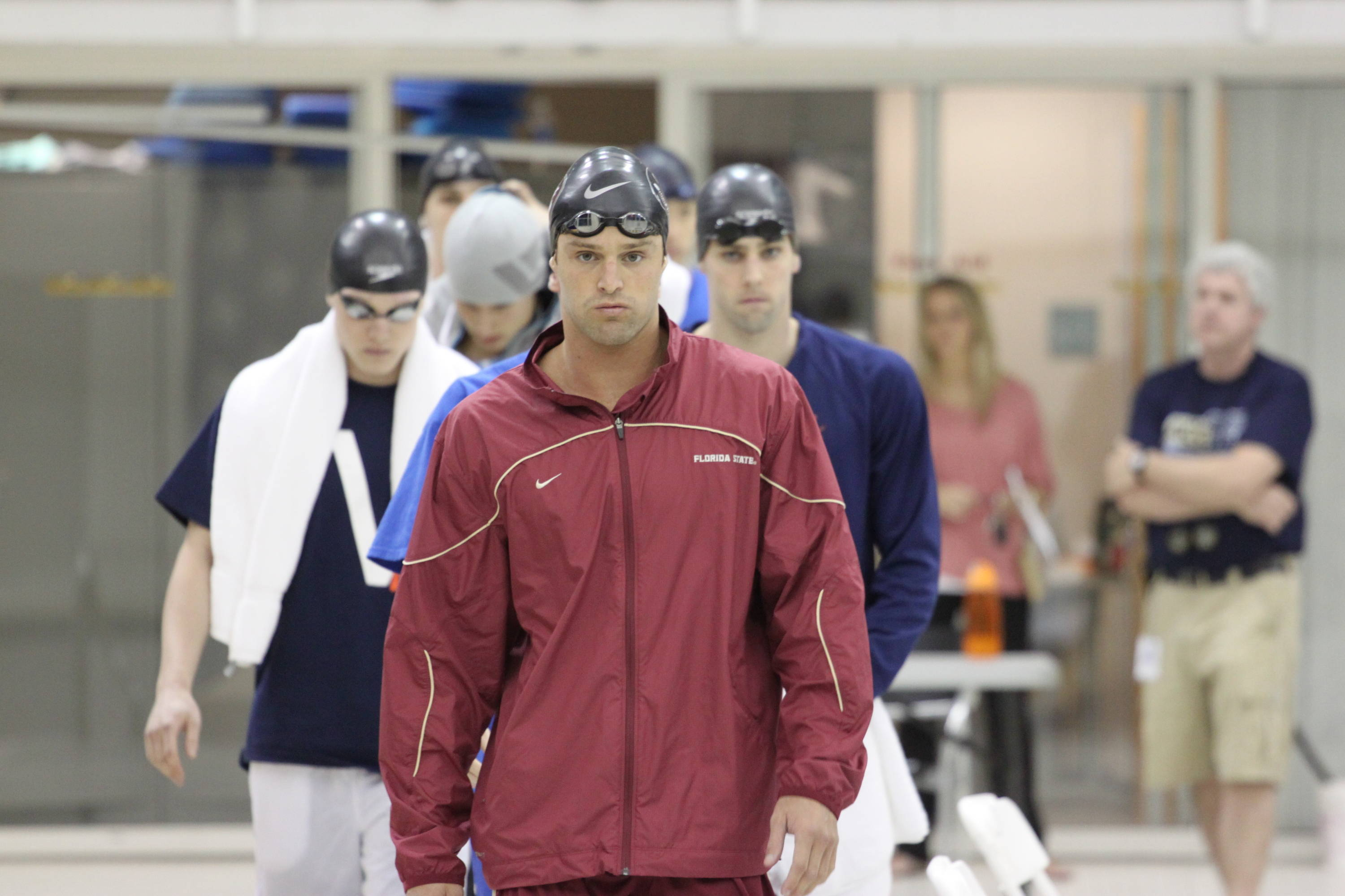 Robby Hayes before the 100 free final