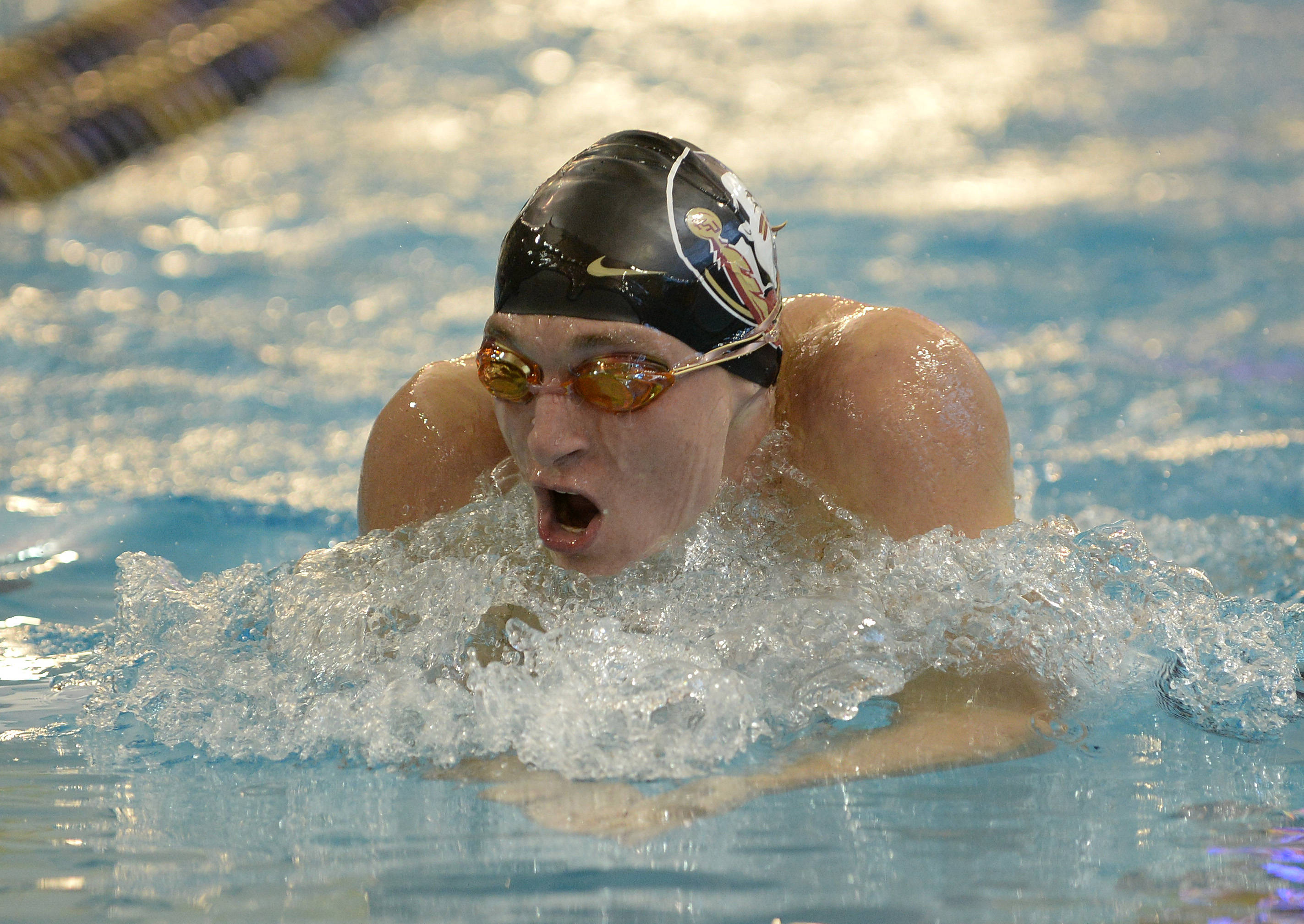 Kyle Doxtater in the 400 IM - Mitch White