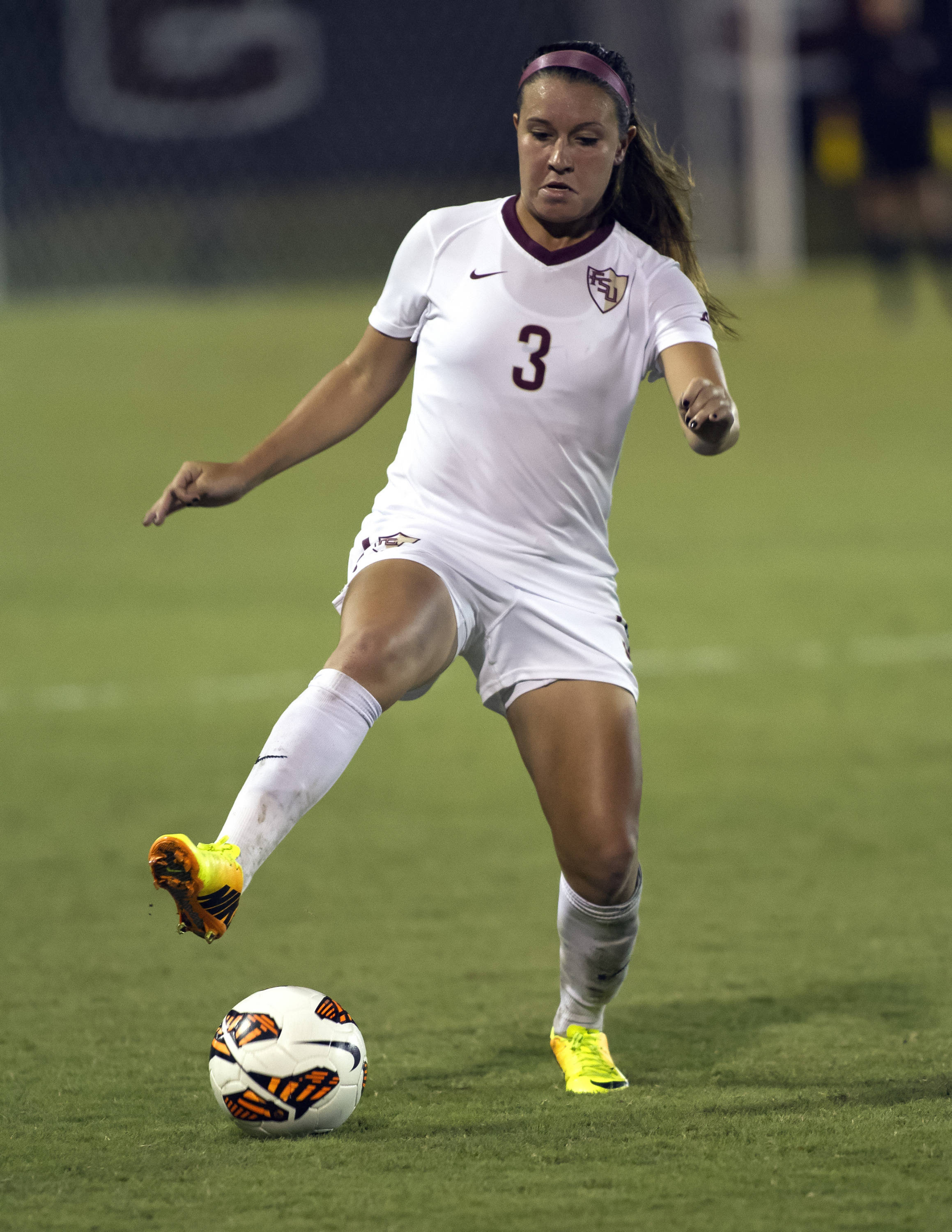 Nickolette Driesse, FSU vs North Carolina,  9-18-13, (Photo by Steve Musco)