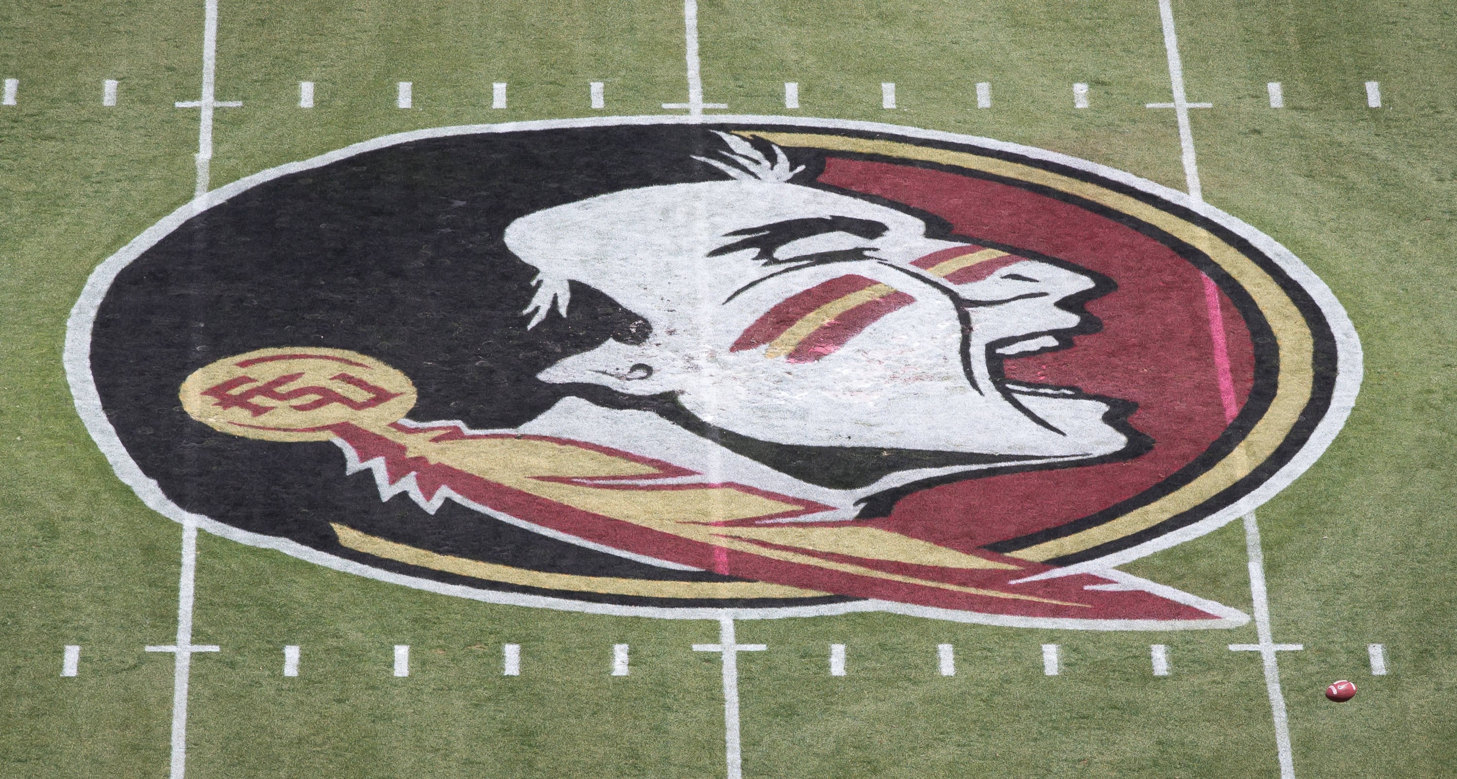 FSU introduces a new logo at mid field.