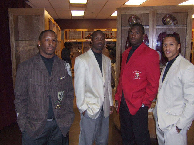 Darius McClure, Dionte Allen, Myron Rolle  and Tony Carter