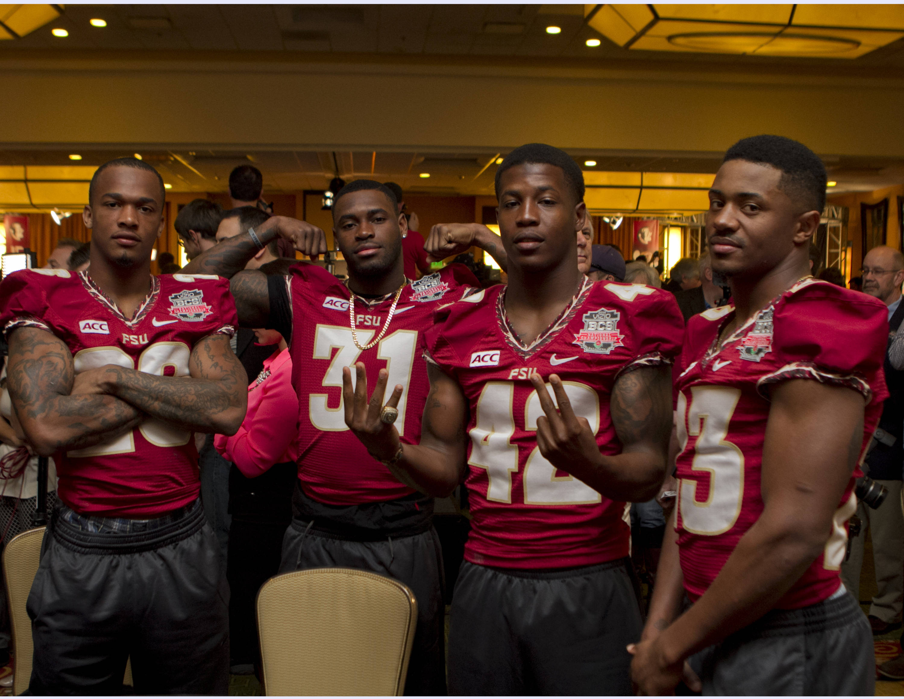 FSU at BCS Championship Press Conference,  1-04-14,  (Photo by Steve Musco)