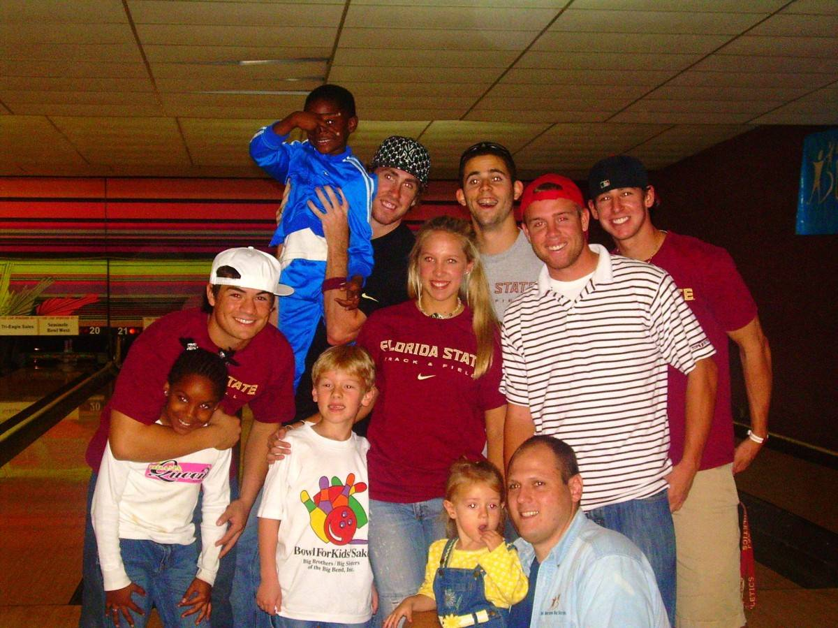 Eight Florida State student athletes participated in the 22nd annual Bowl for Kids' Sake Fundraiser at the Seminole Bowl.