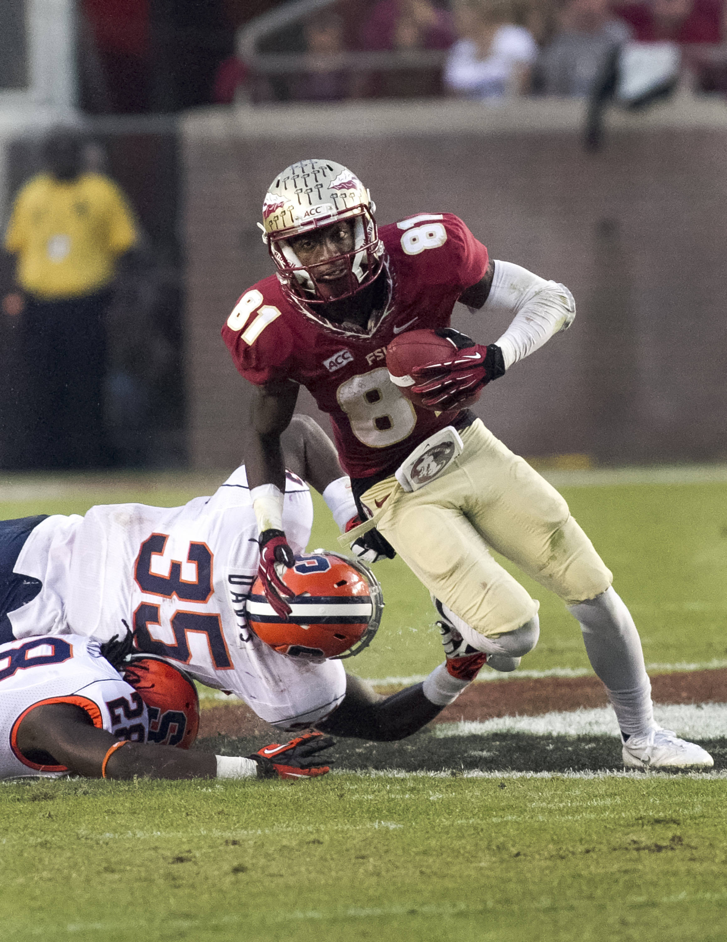 Kenny Shaw (81), FSU vs Syracuse, 11-16-13, (Photo by Steve Musco)