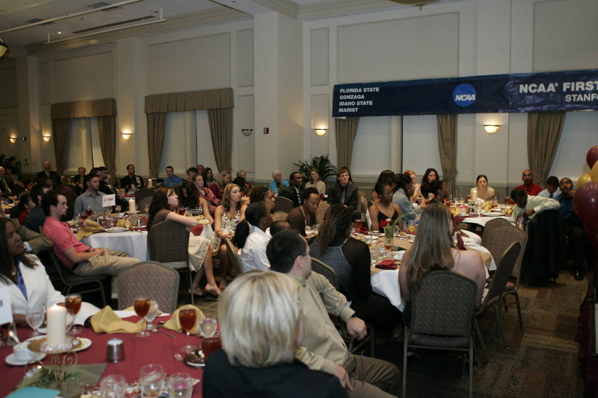 Nearly 150 people were in attendance at the banquet.