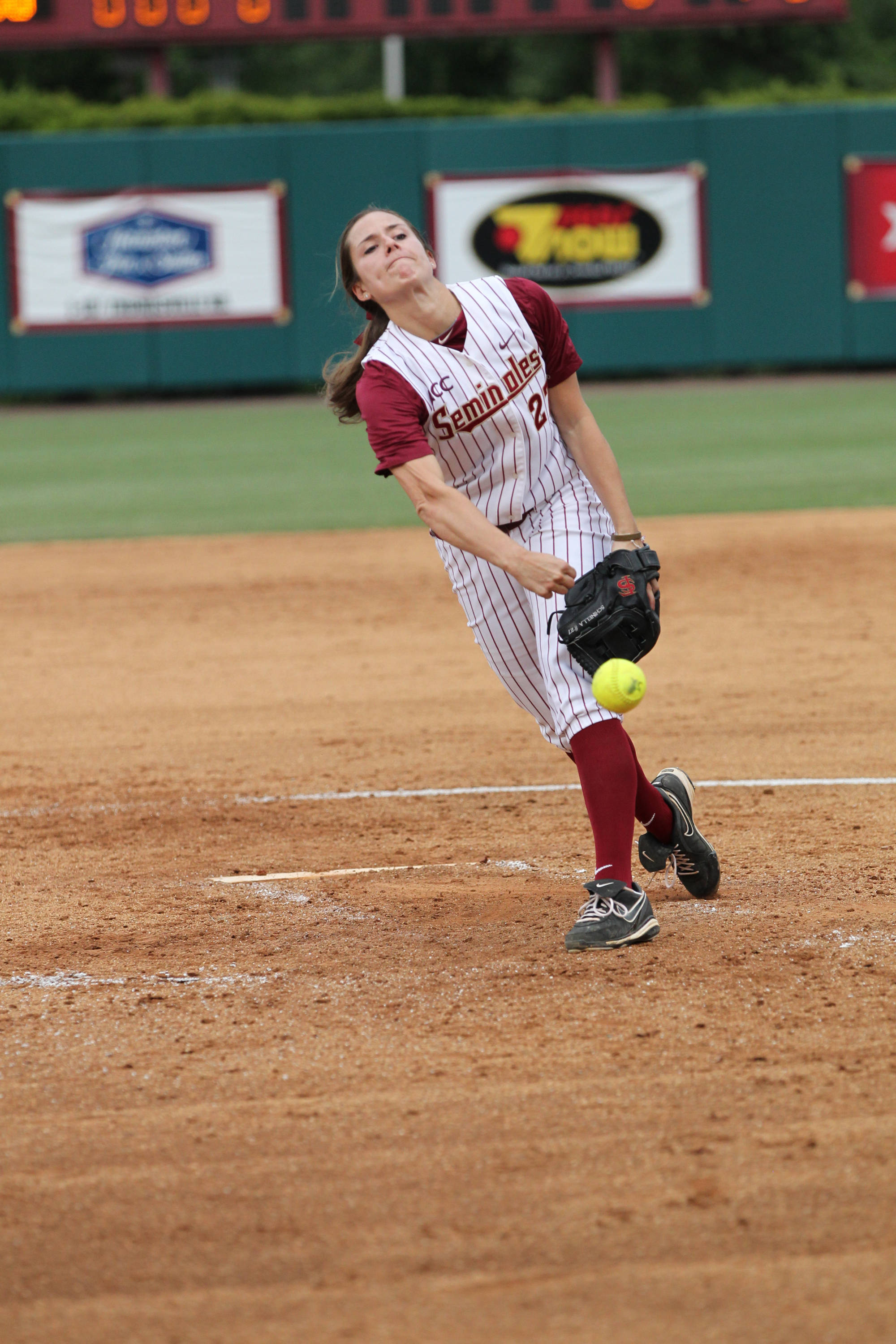 Bailey Shinella, FSU vs FLA, 04/17/13 . (Photo by Steve Musco)