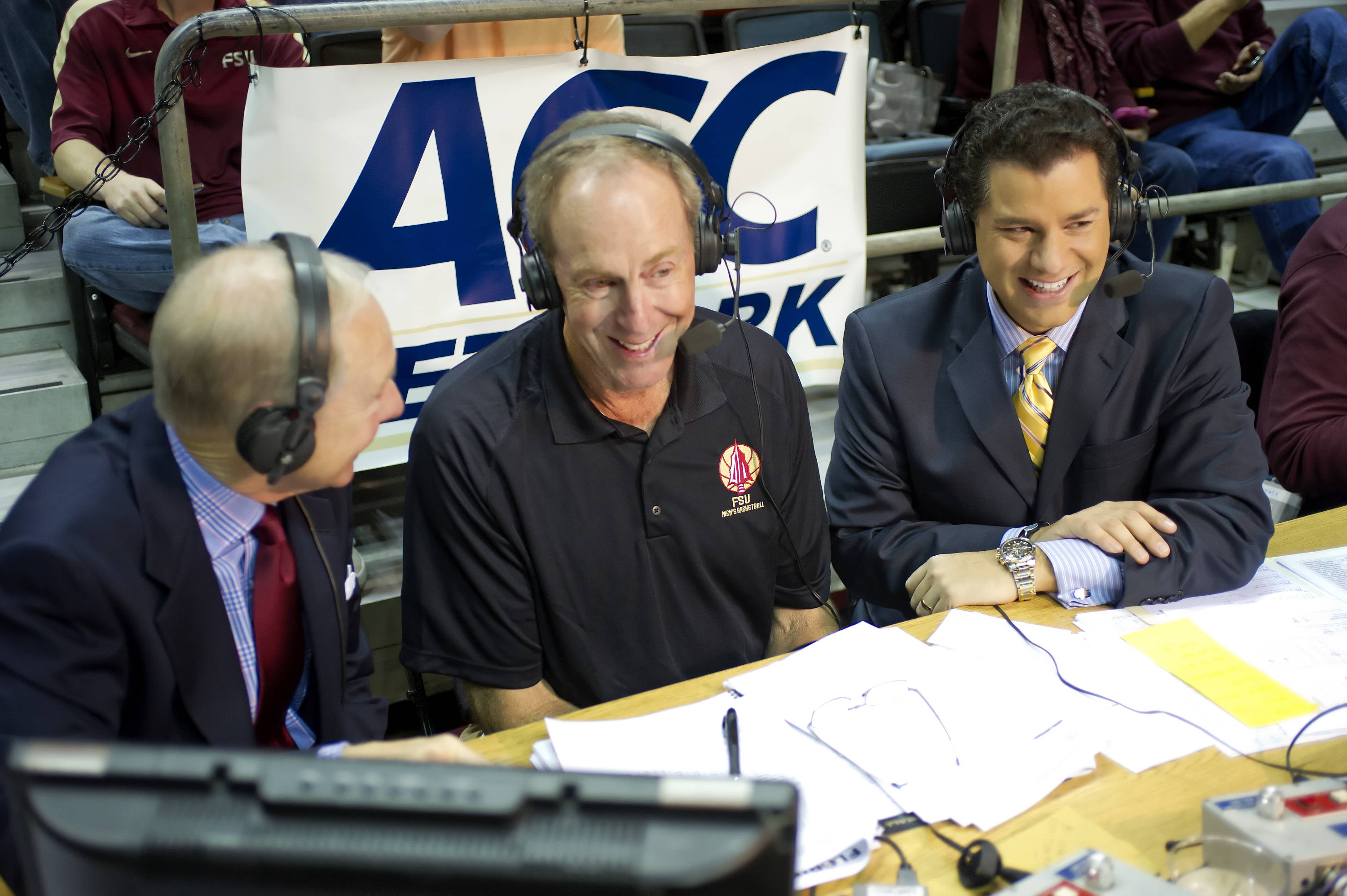 Former FSU and NBA great Dave Cowens (center) returned to Tallahassee for basketball alumni weekend