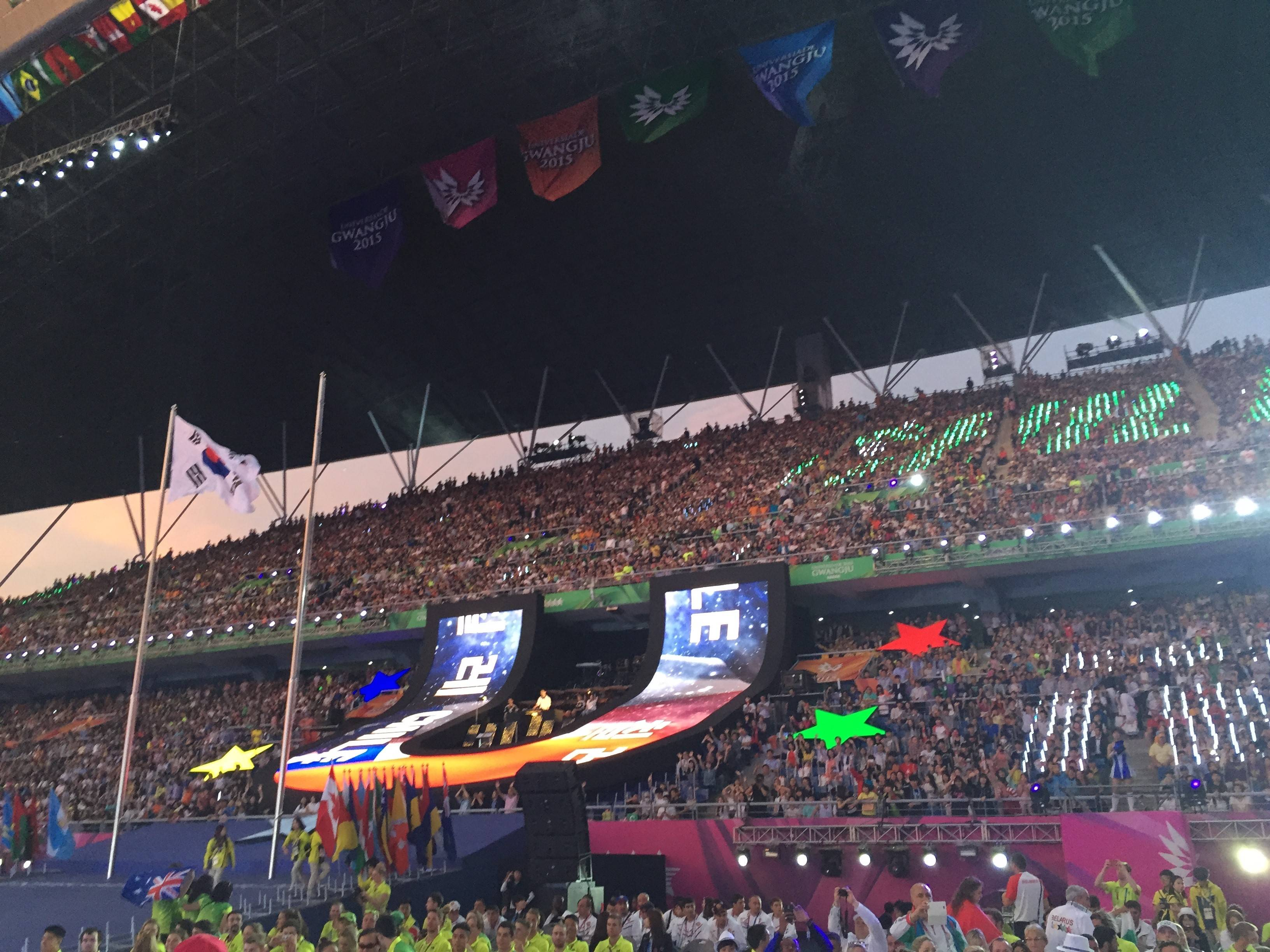 Inside the opening ceremony.