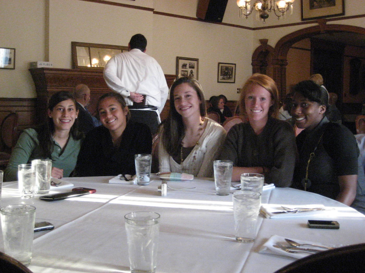 Thanksgiving at Tippecanoe Place.#$%^(L to R): Marissa Kazbour, Rachel Lim, Katie Bolinsky, Tori Huster, Tiffany McCarty