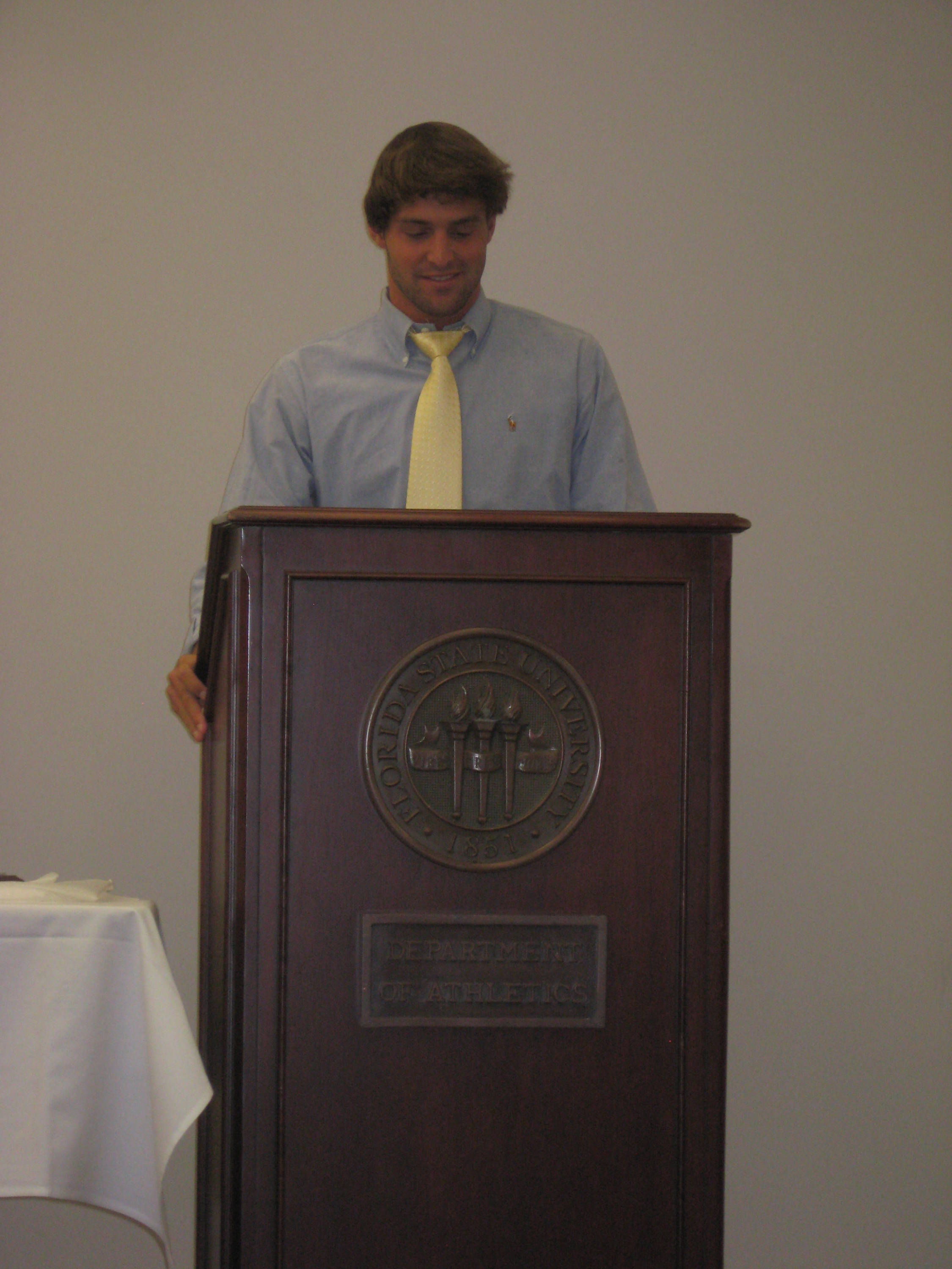 2011 Swimming and Diving Banquet: Robby Hayes