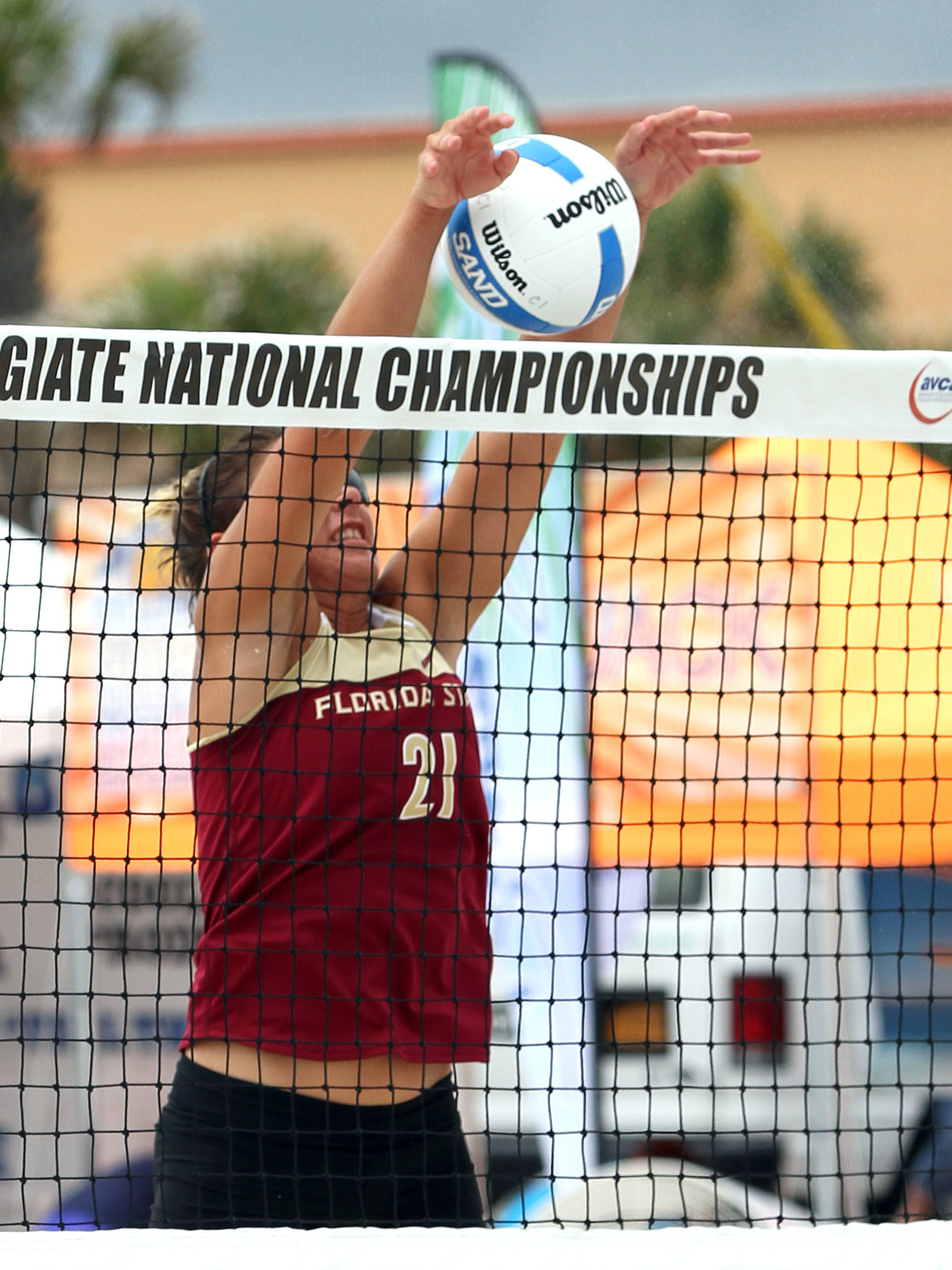 Jace Pardon (21), AVCA Collegiate Sand Volleyball National Championships,  Gulf Shores, Alabama,05/03/13 . (Photo by Steve Musco)