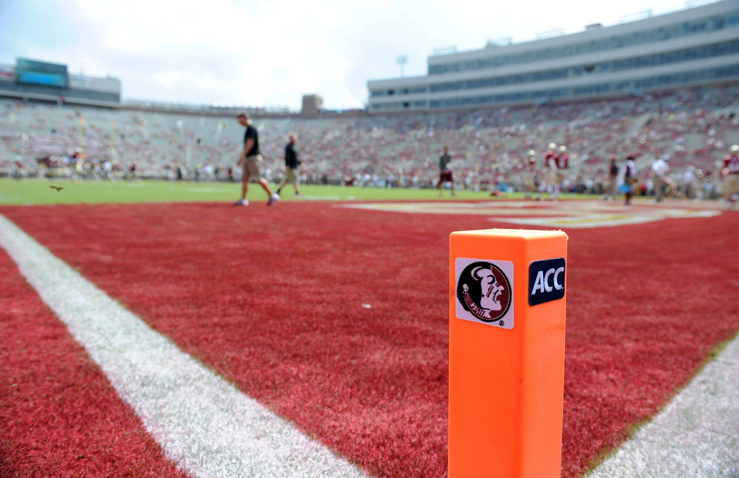 Sep 14, 2013; Tallahassee, FL, USA; A general view of the field before the Florida State Seminoles game against the Nevada Wolf Pack at Doak Campbell Stadium. Mandatory Credit: Melina Vastola-USA TODAY Sports