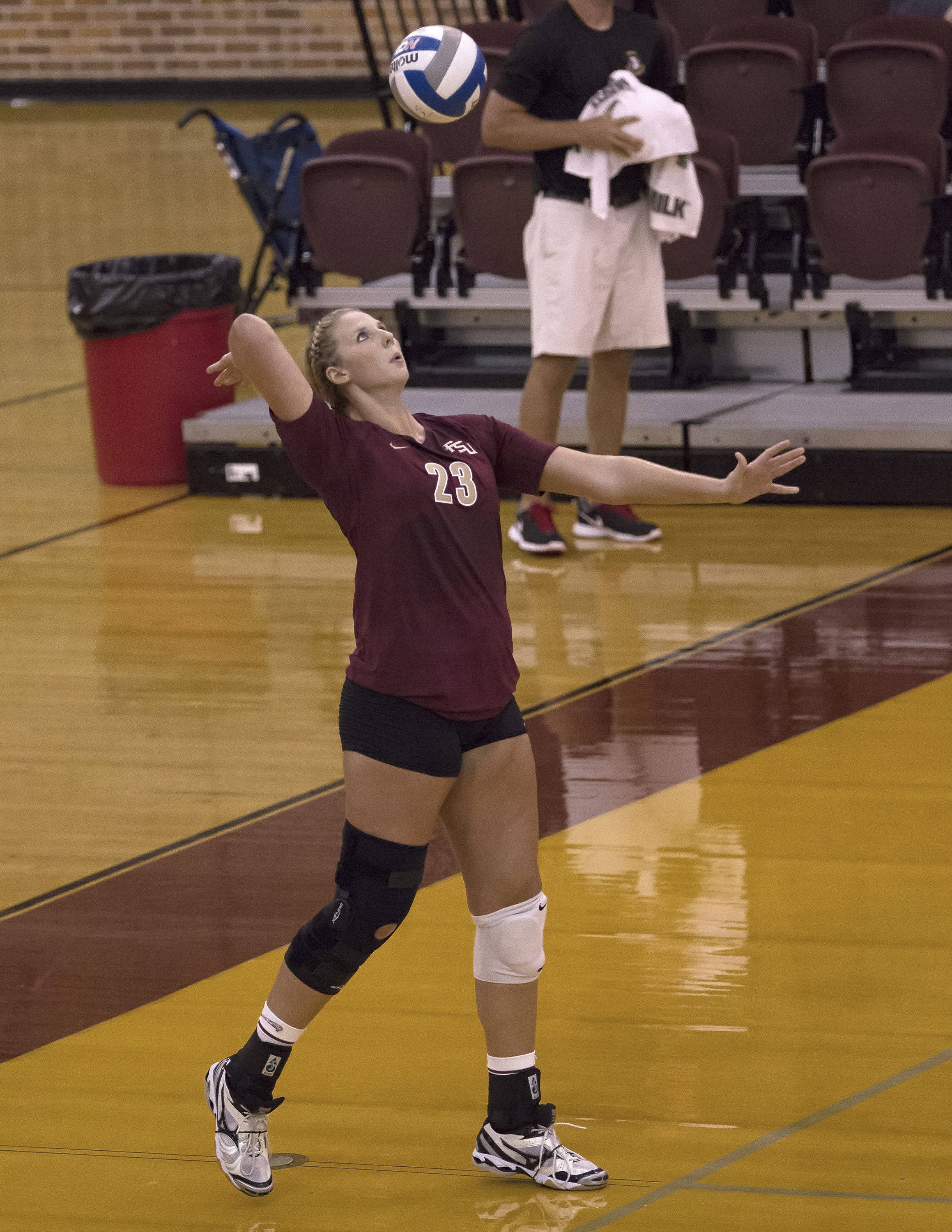 Elise Walch, Garnet and Gold, 8-24-13, (Photo by Steve Musco)