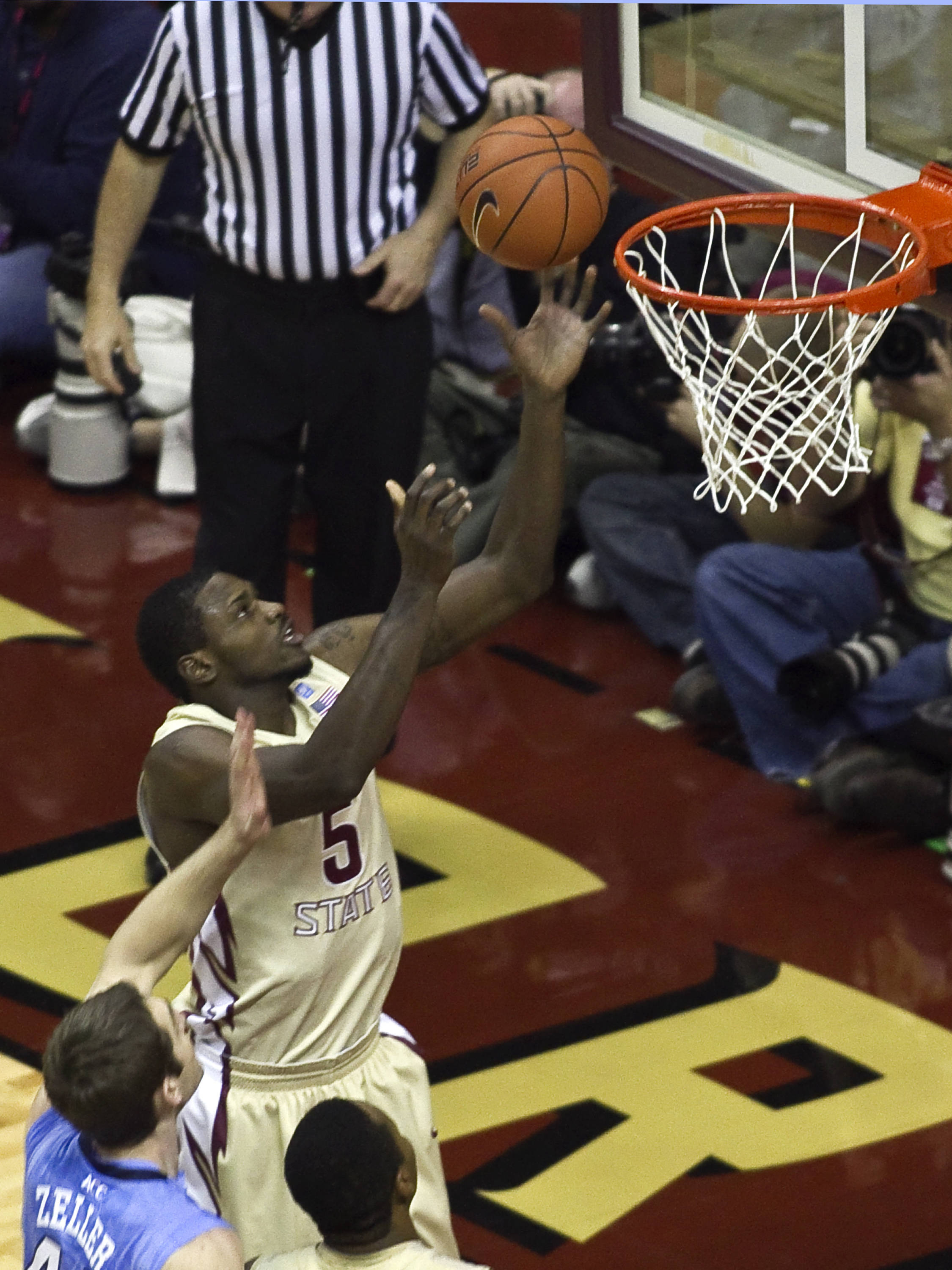 Bernard James (5), FSU vs NC,  01/14/2012