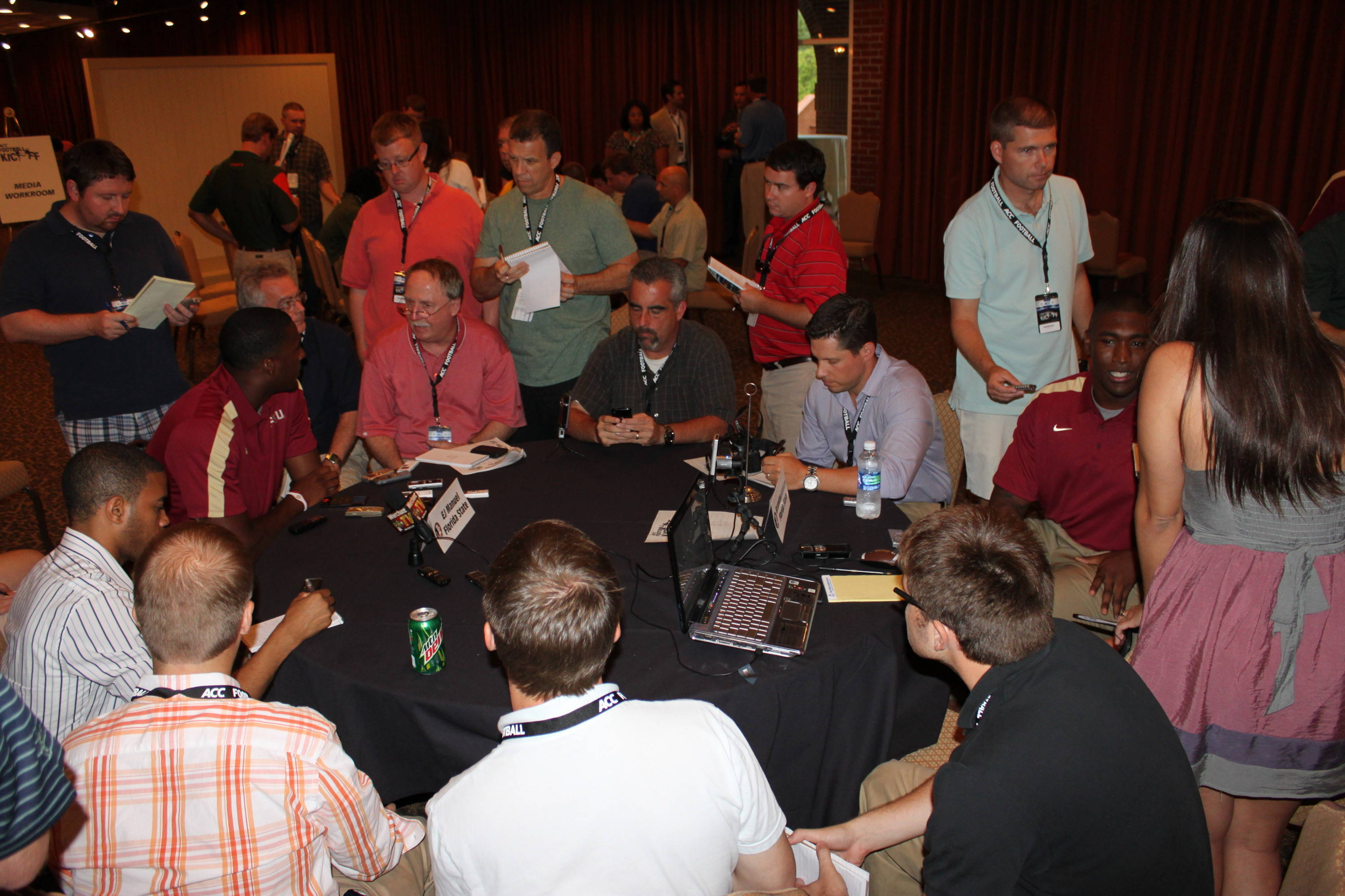 From above, you can see the 2011 Seminoles were one of the hottest topics at the 2011 ACC Kickoff.