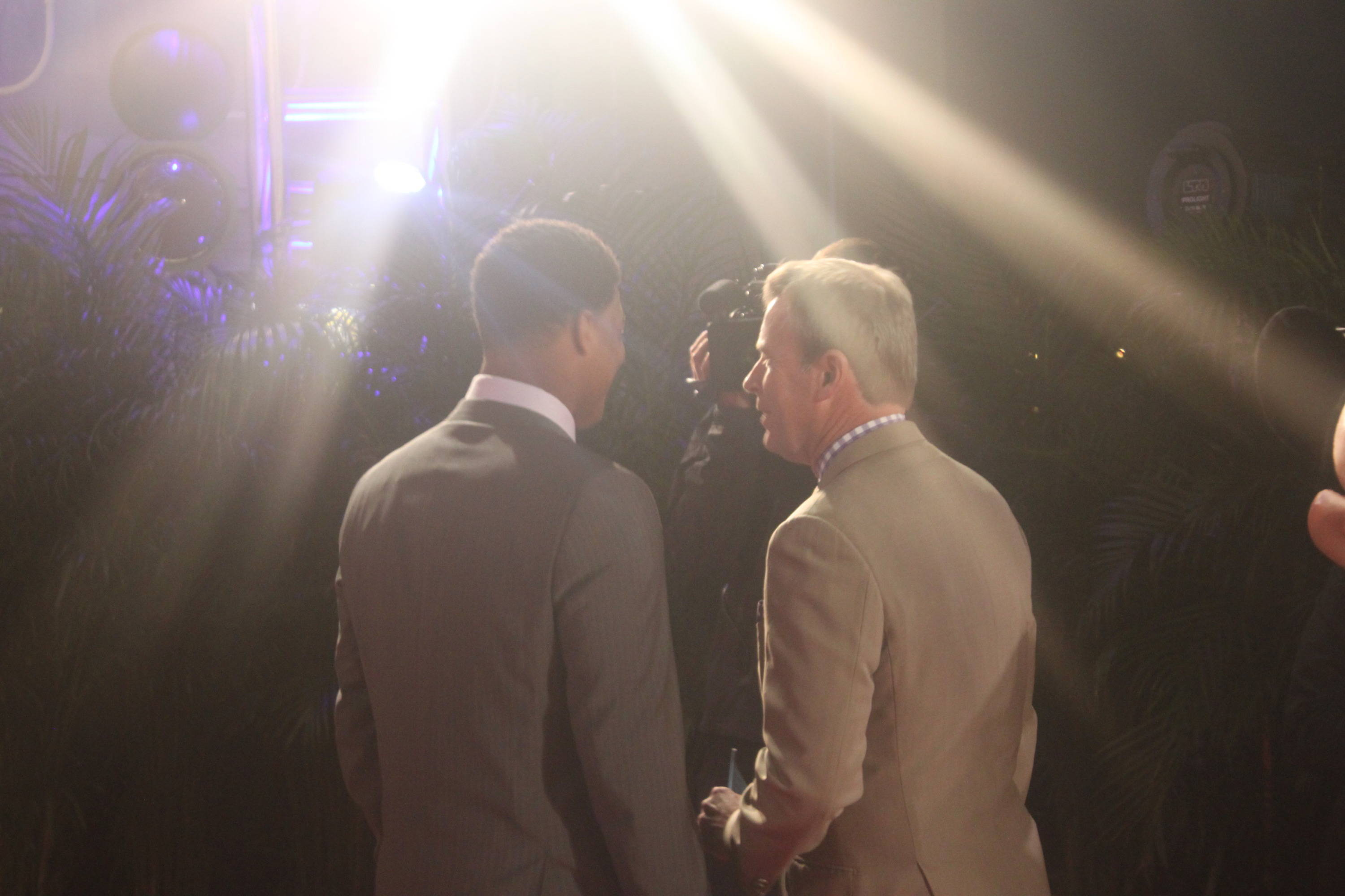 Jameis Winston interviewed by ESPN's Tom Rinaldi