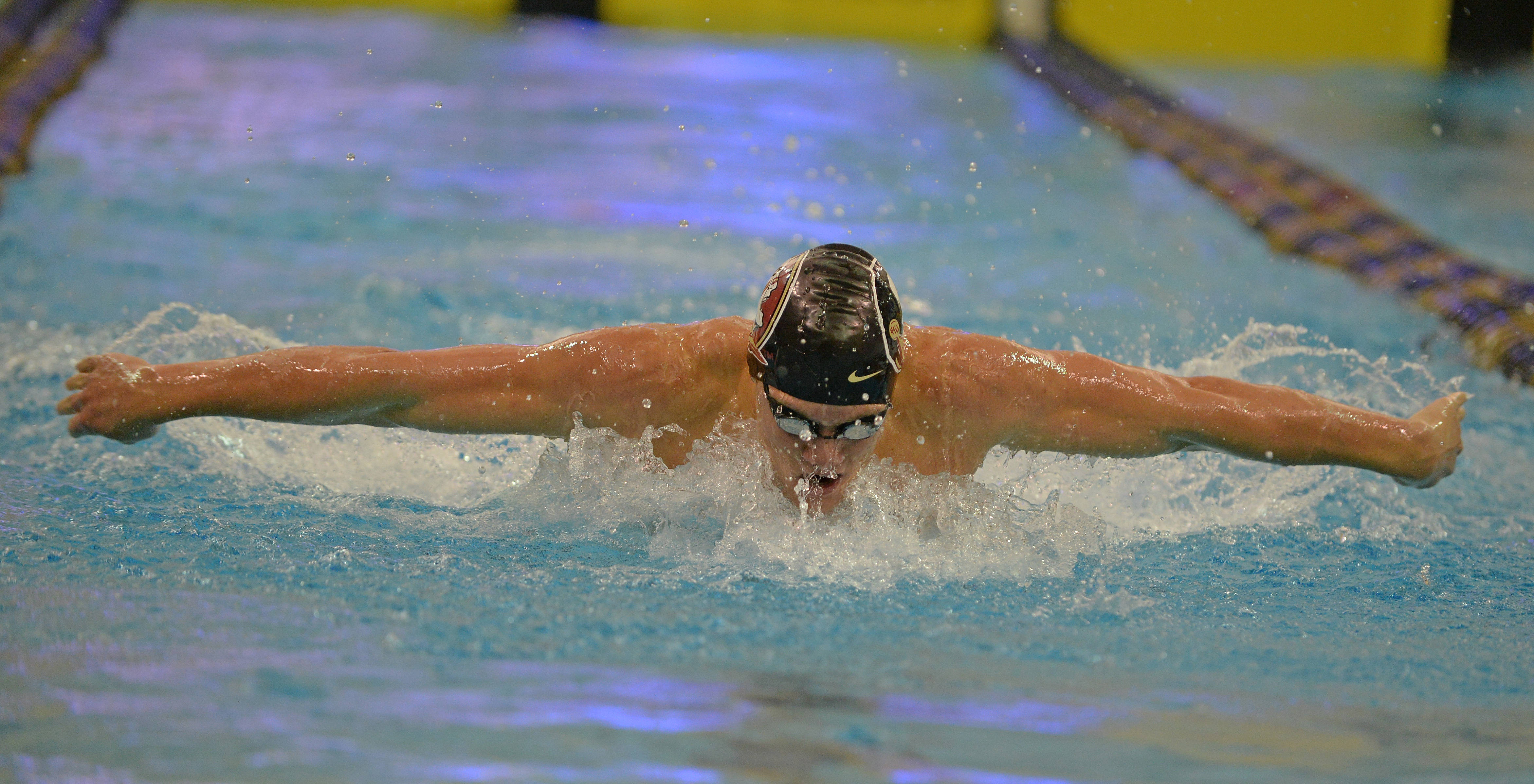 Connor Knight in the 200 fly - Mitch White