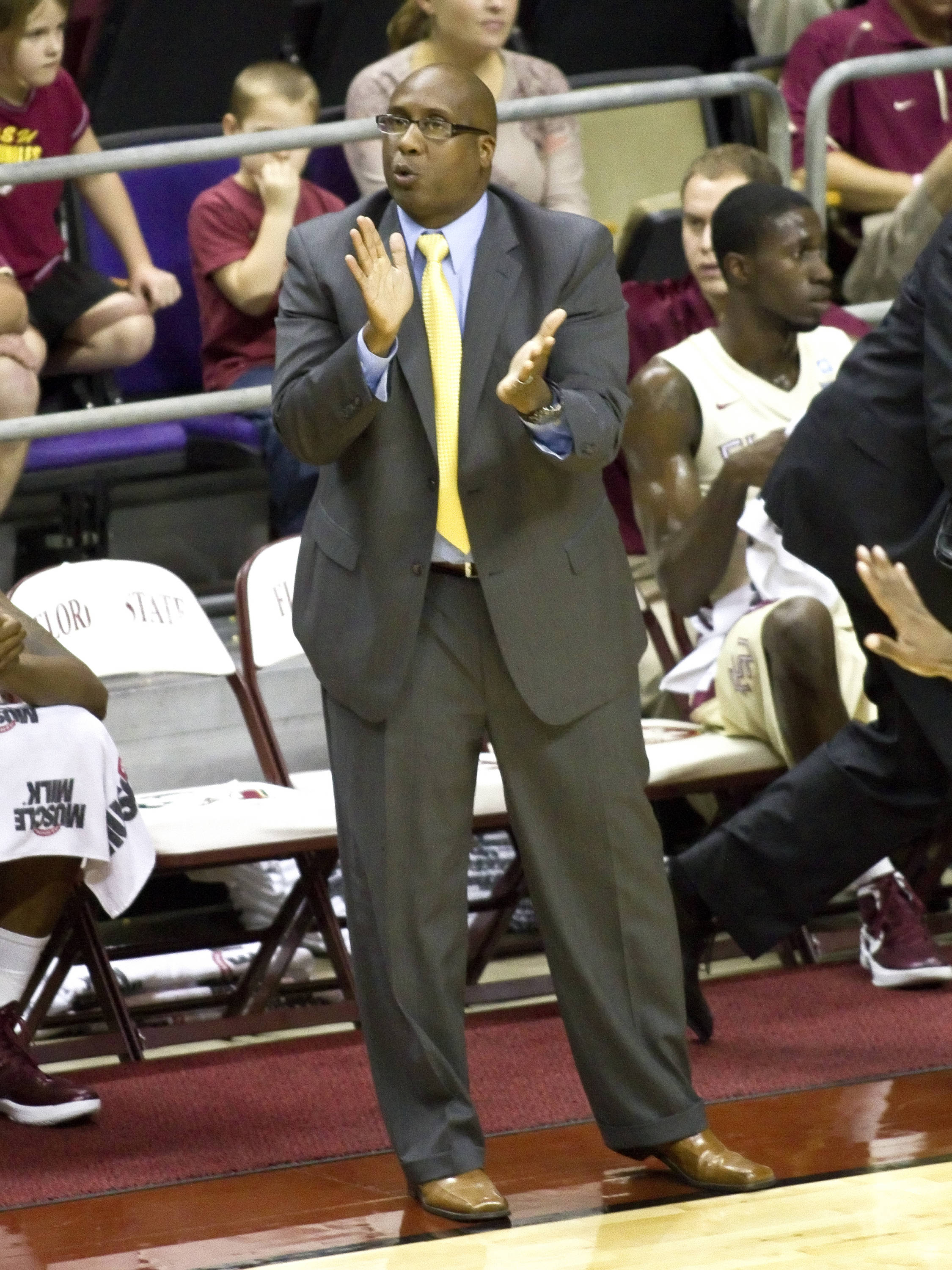 Assistant Coach Corey Williams, FSU vs So. Alabama, 11/20/2011