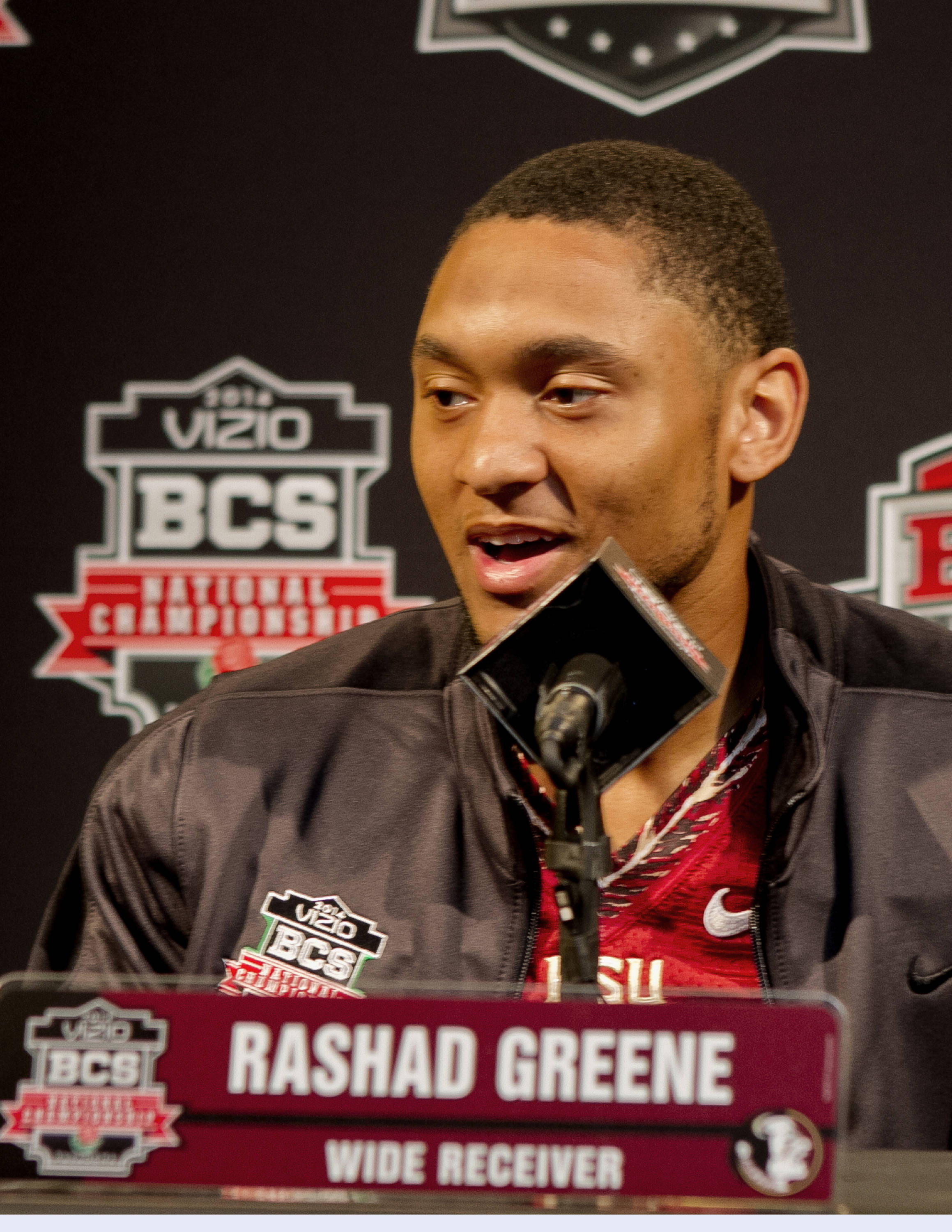 Rashad Greene (80), FSU at BCS Championship Media Day,  1-04-14,  (Photo by Steve Musco)