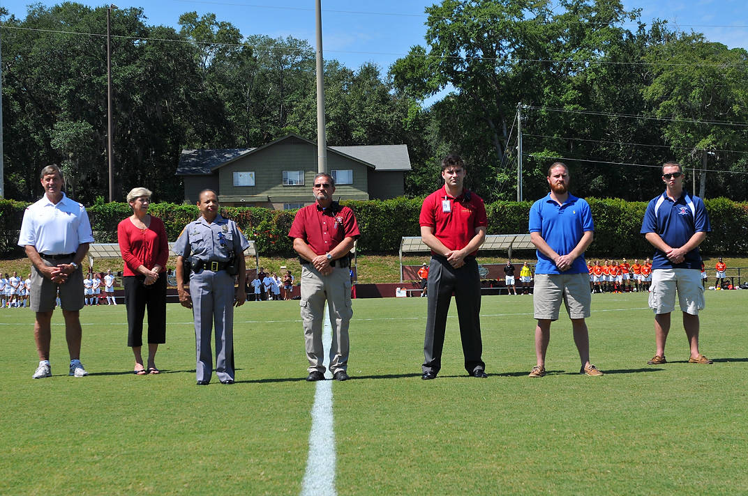 FSU honored several public service representatives while holding a moment of silence in honor of the 10th anniversary of 9/11.
